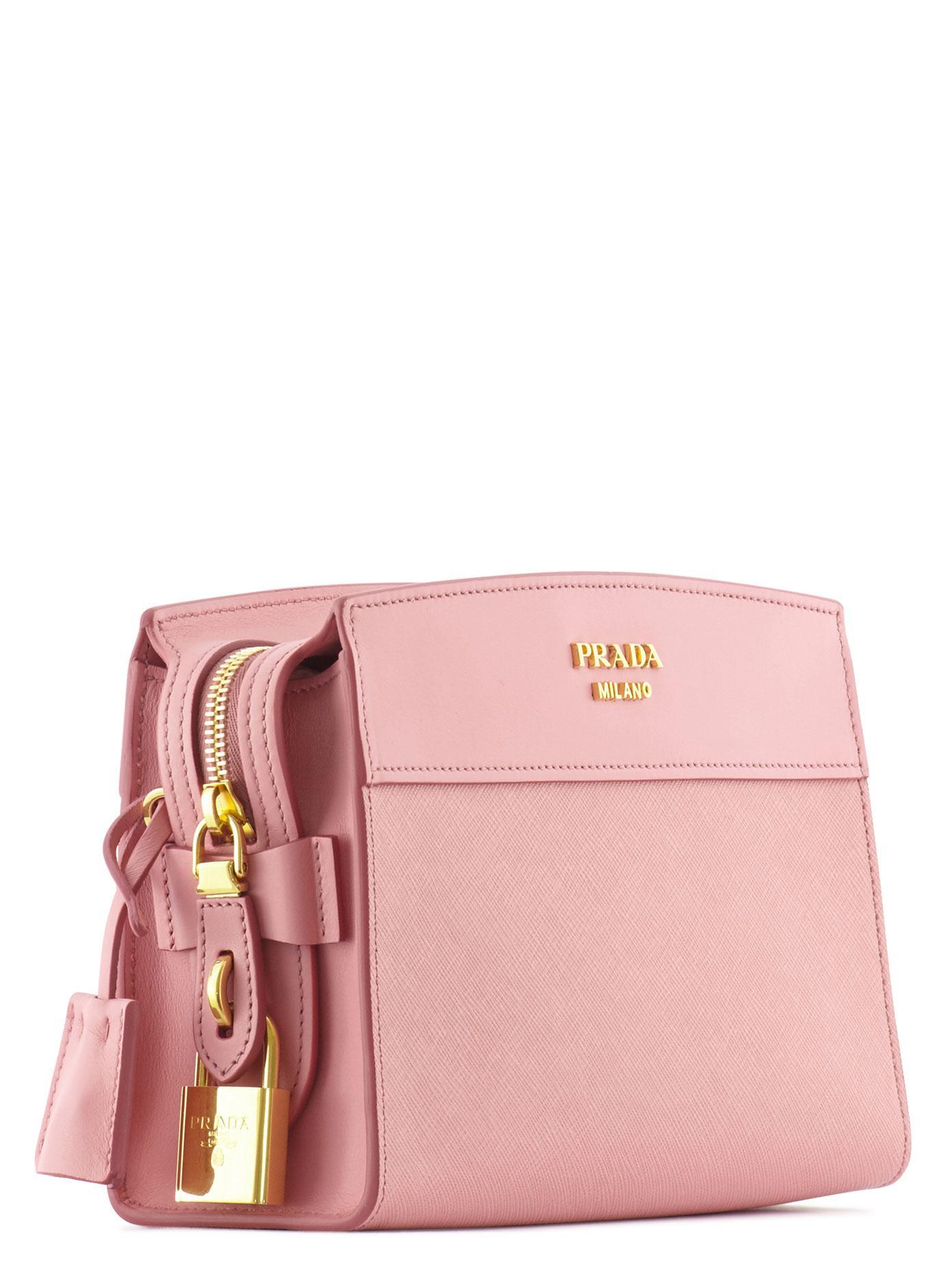 fe28aeab0b2756 Prada Esplanade Crossbody Bag in Pink - Lyst