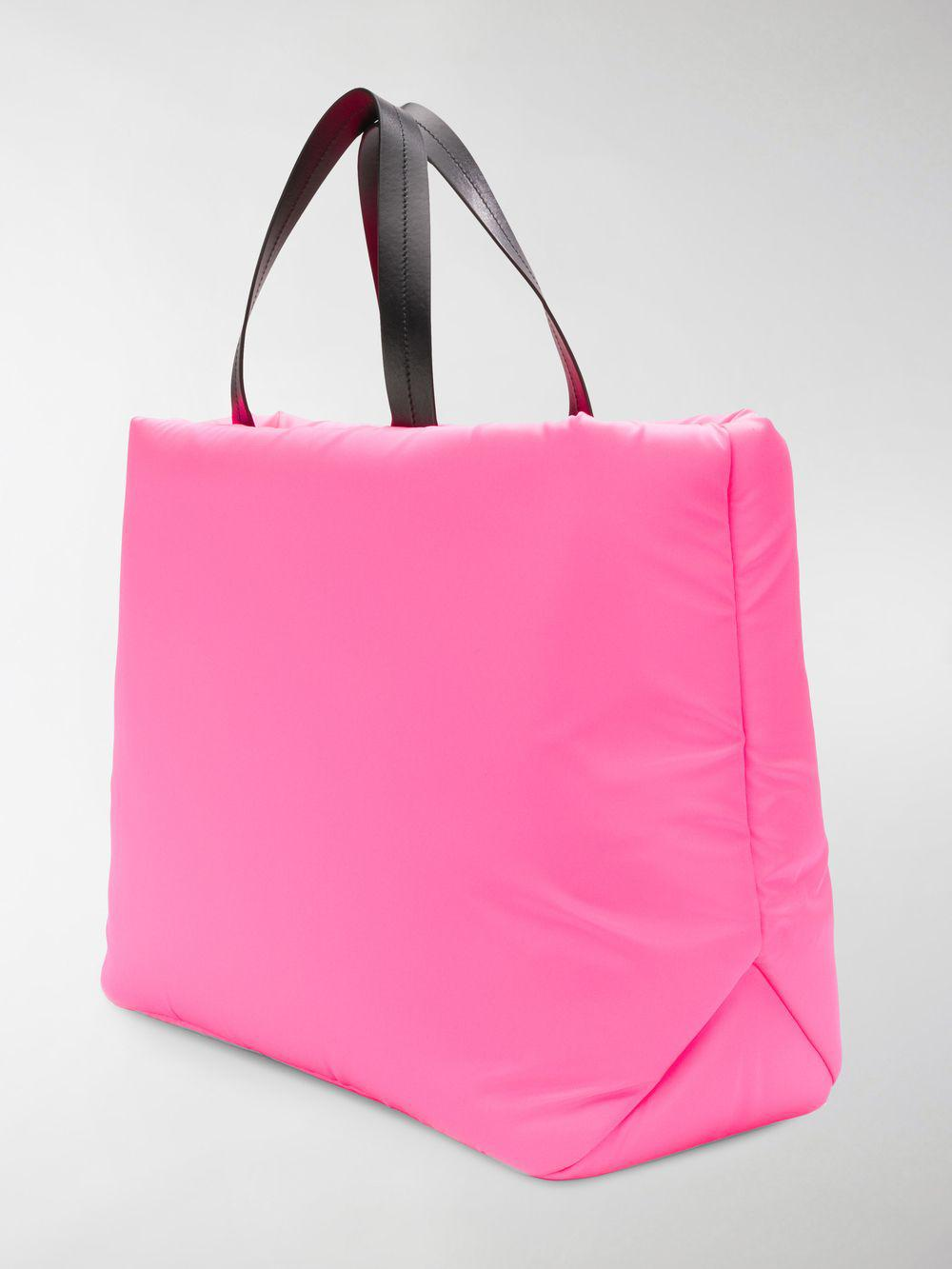 d6f2cf32303f Lyst - Prada Medium Padded Nylon Tote in Pink