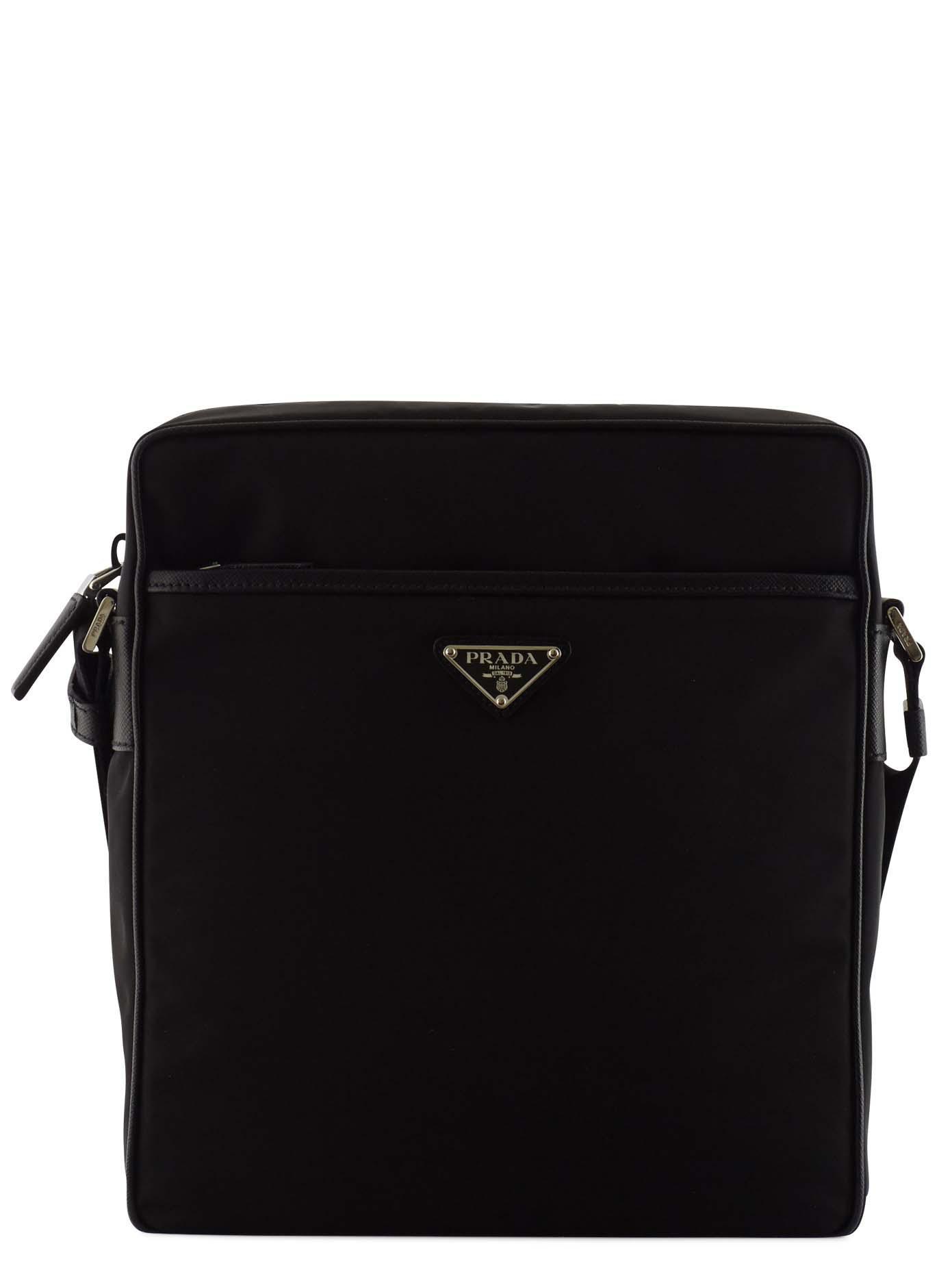 5700e2609f9d Prada Nylon Crossbody Bag in Black for Men - Lyst