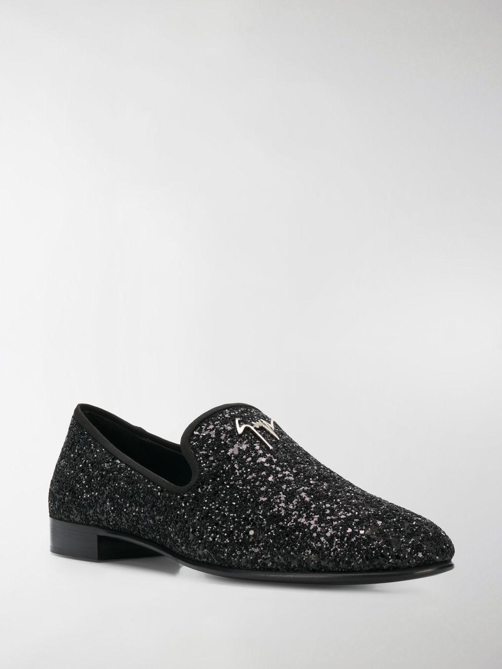 c7c12c41beef Lyst - Giuseppe Zanotti Glitter Loafers in Black for Men - Save 21%