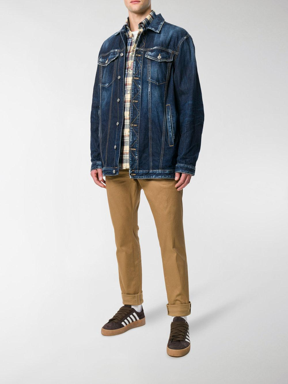 bc3c79cd3fa7b2 DSquared² Oversized Denim Jacket in Blue for Men - Save 51% - Lyst