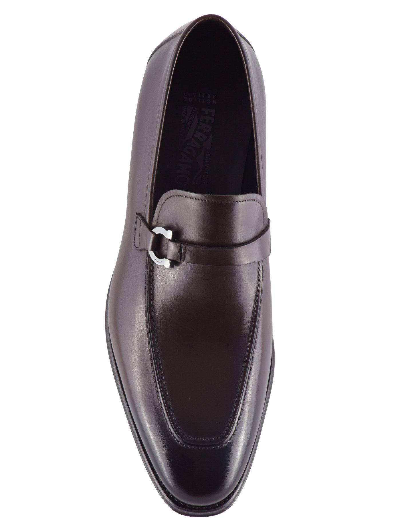 b68600d1998 Lyst - Ferragamo Domaso Leather Loafers in Brown for Men