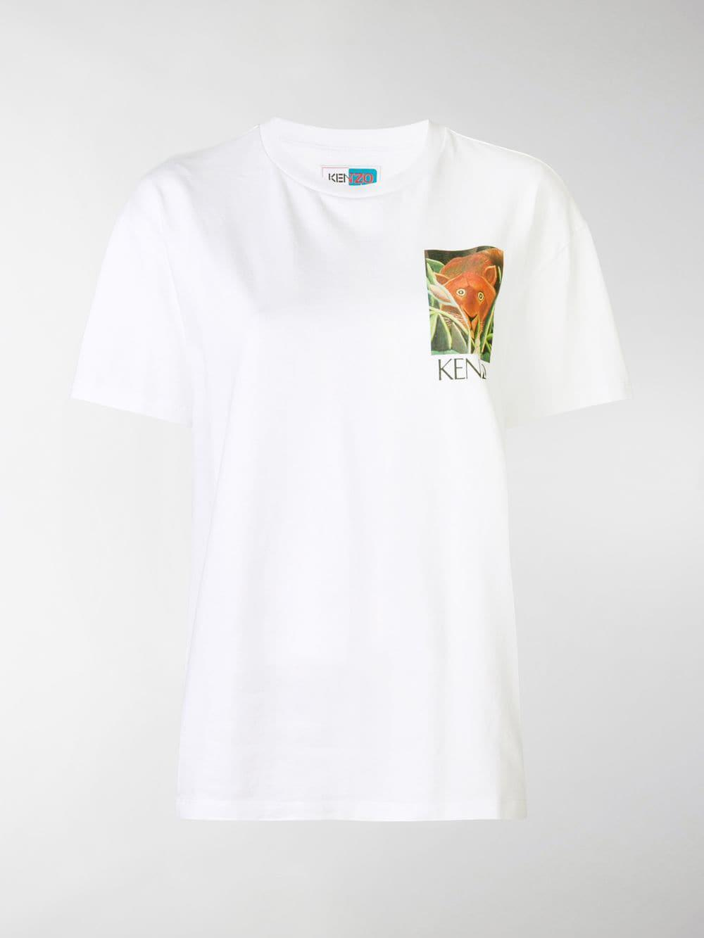 a1d43331 Lyst - Kenzo Tiger Graphic-print T-shirt in White