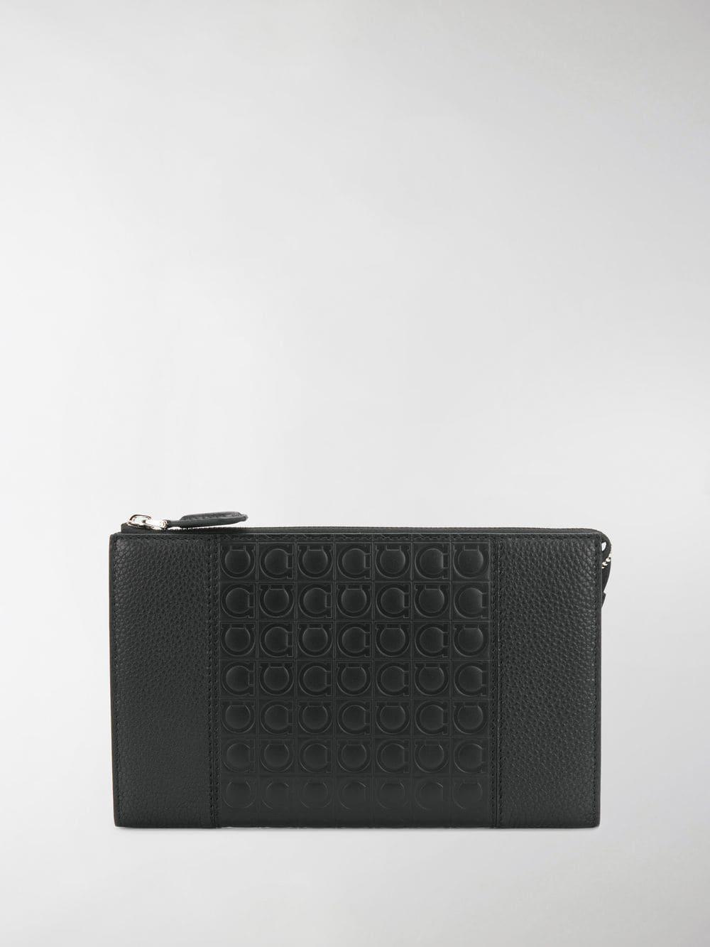 c334409dc0af Lyst - Ferragamo Embossed Gancio Clutch in Black for Men