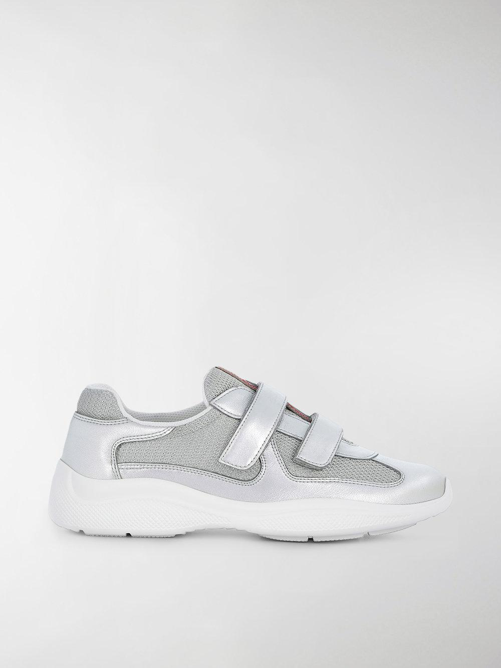 touch-strap sneakers - Metallic Prada o8zaC55AY