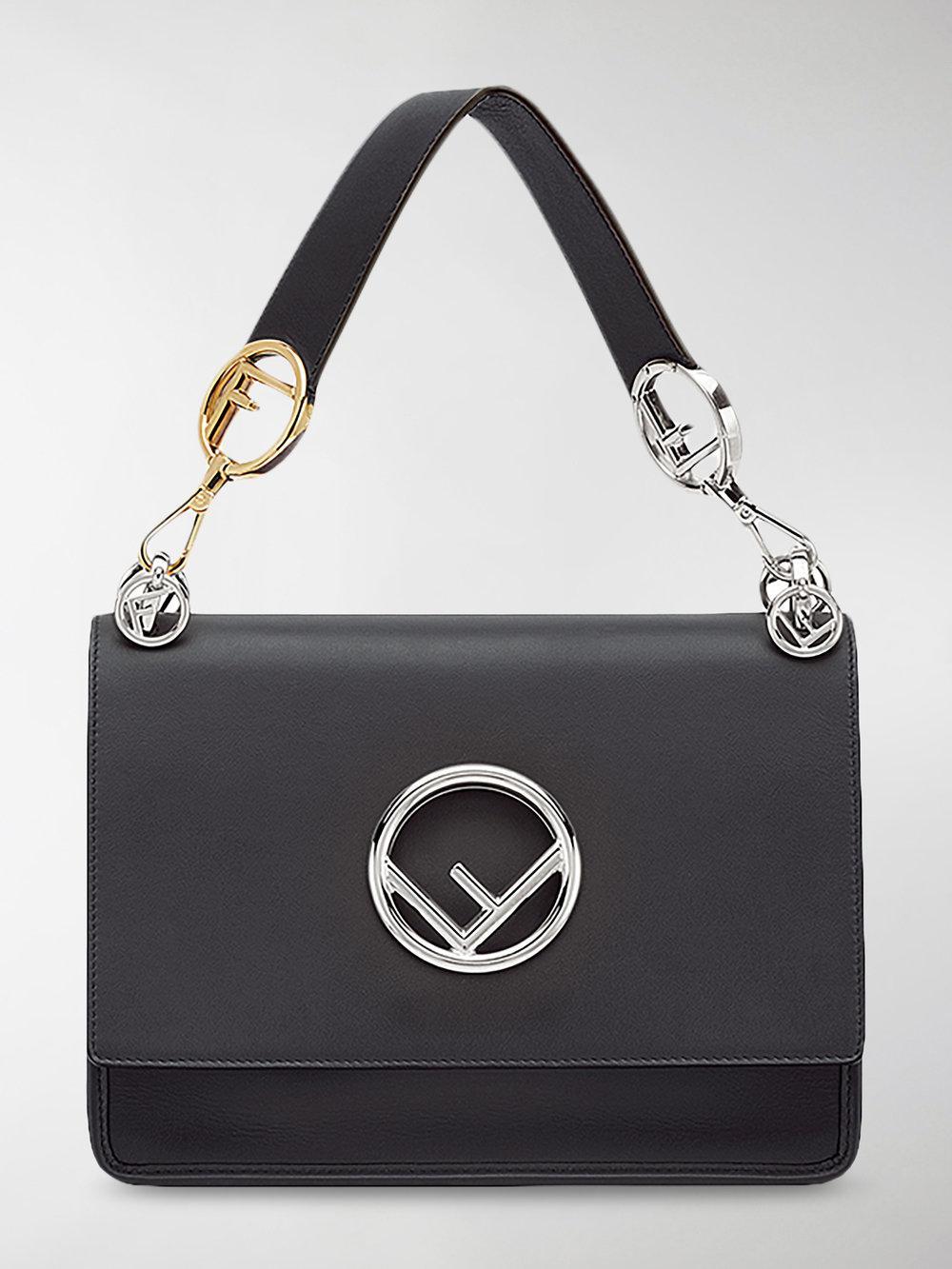 Fendi Kani Shoulder Bag in Black - Save 26% - Lyst bc8ec196cca9c