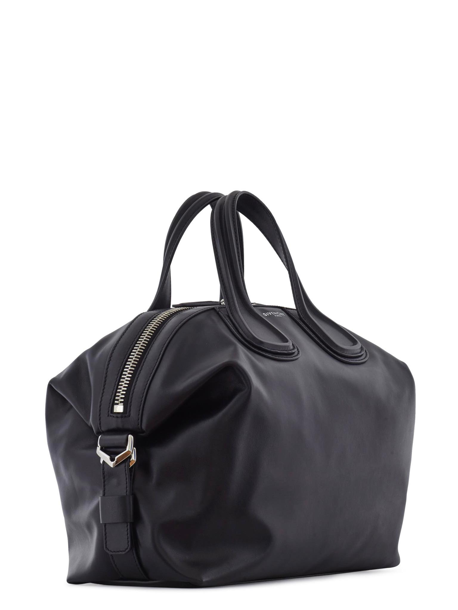 ce2529b09fbe Givenchy Nightingale Logo Strap Leather Bag in Black - Lyst