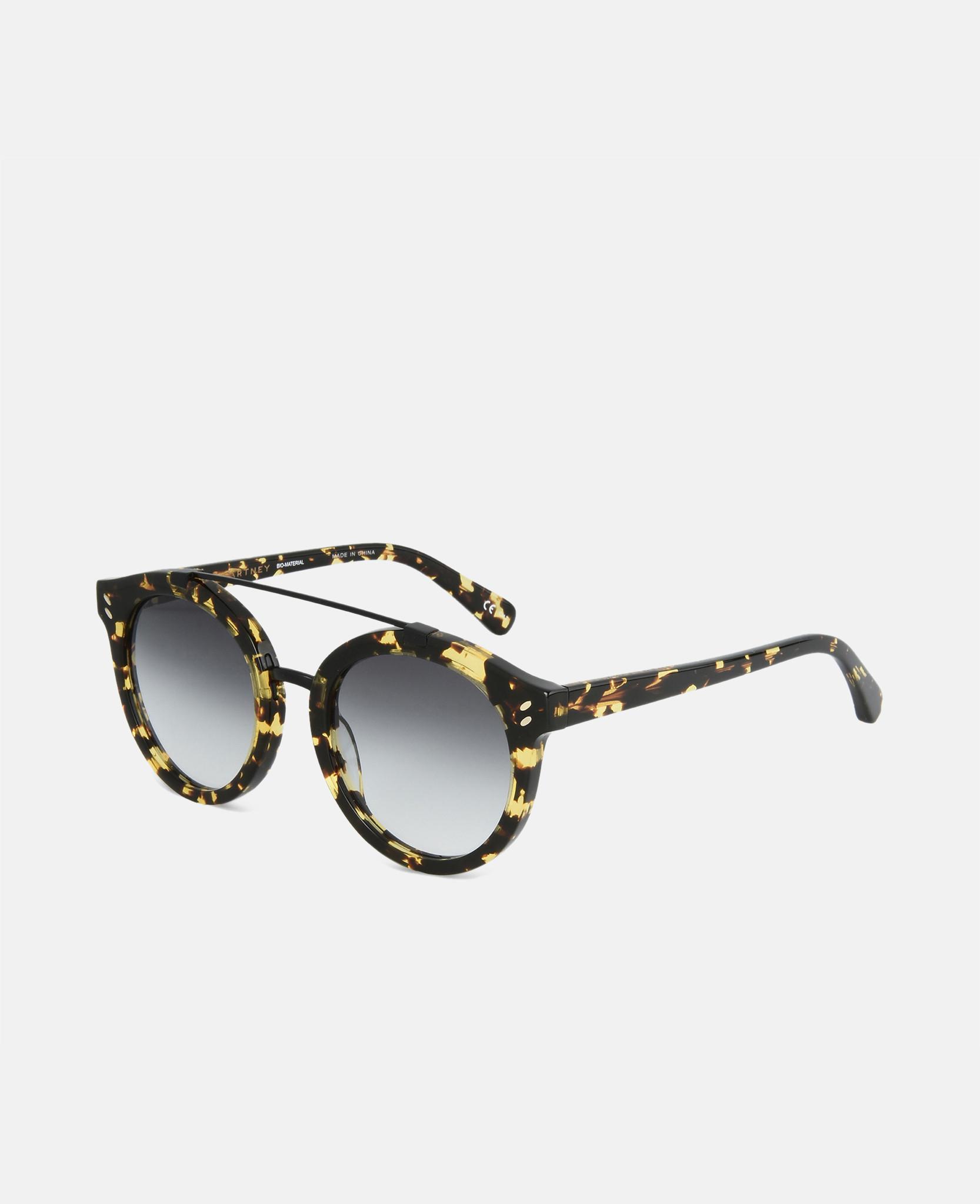 c5a9d85ba856 Stella McCartney. Women s Brown Vintage Dark Havana Round Frame Sunglasses