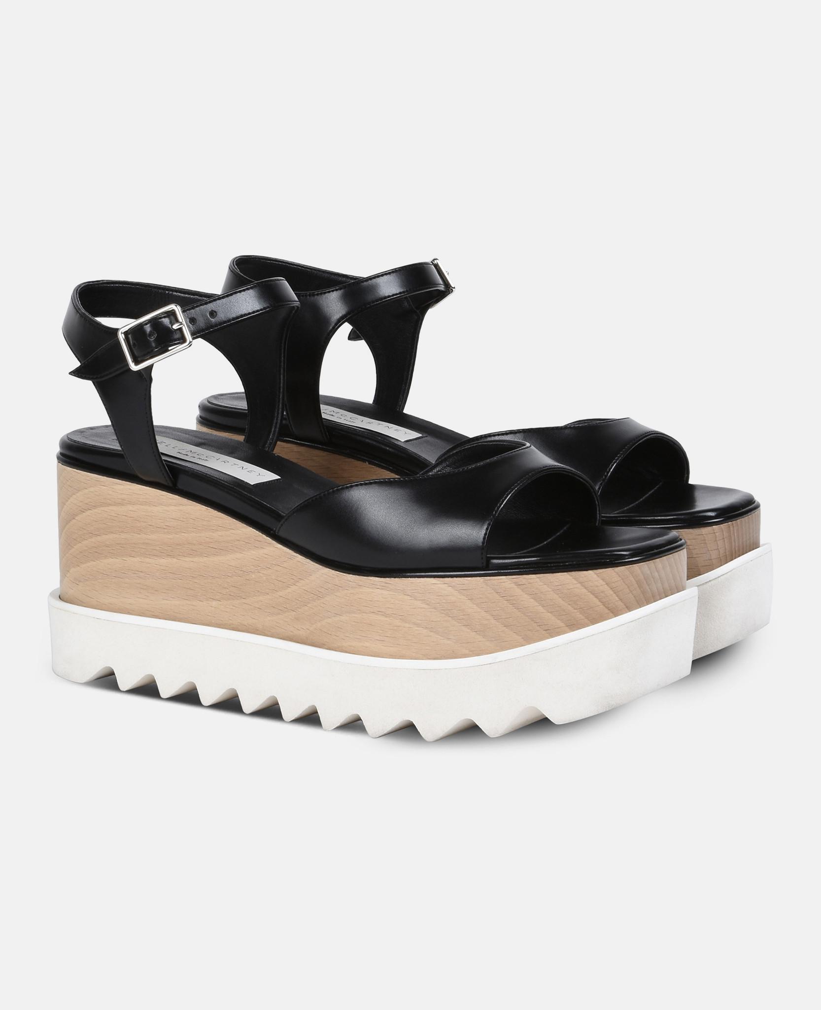 4671d3be023 Stella McCartney Black Elyse Sandals in Black - Lyst