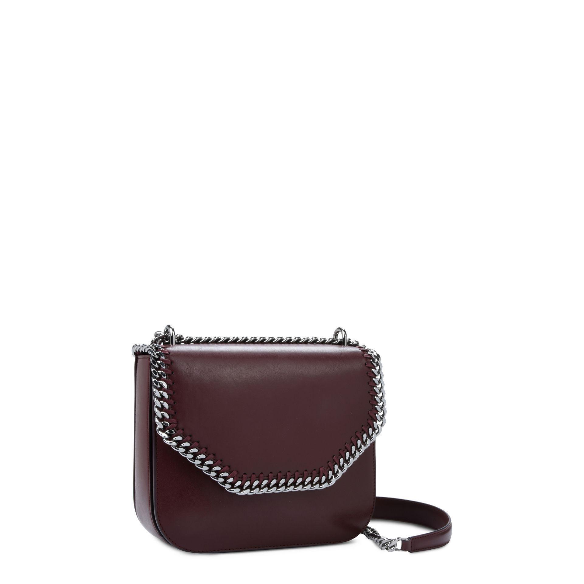 ef1fb092bb Lyst - Stella McCartney Burgundy Falabella Box Shoulder Bag in Purple