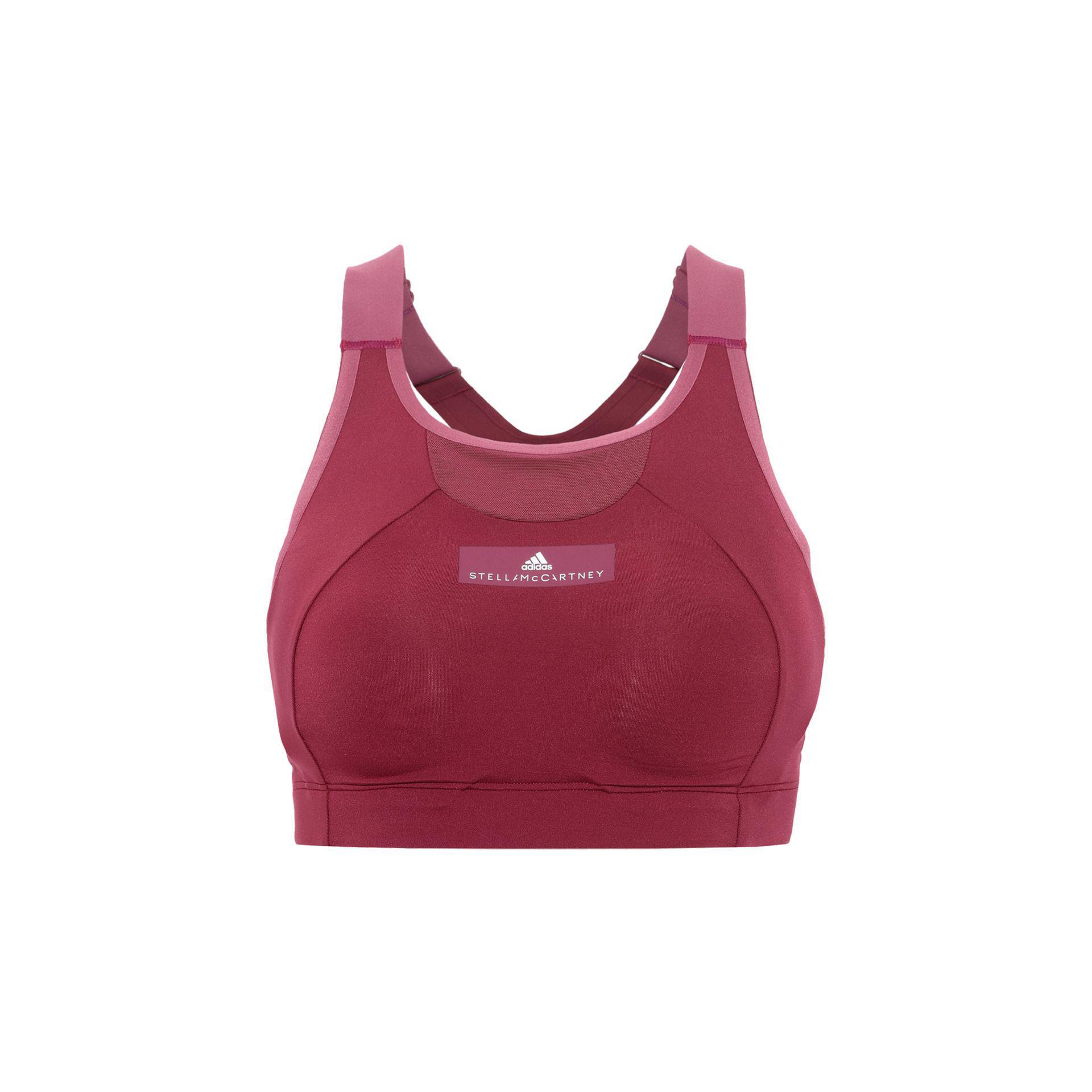 22ecc84613 Lyst - Adidas By Stella Mccartney Red Cmmttd Sports Bra in Red