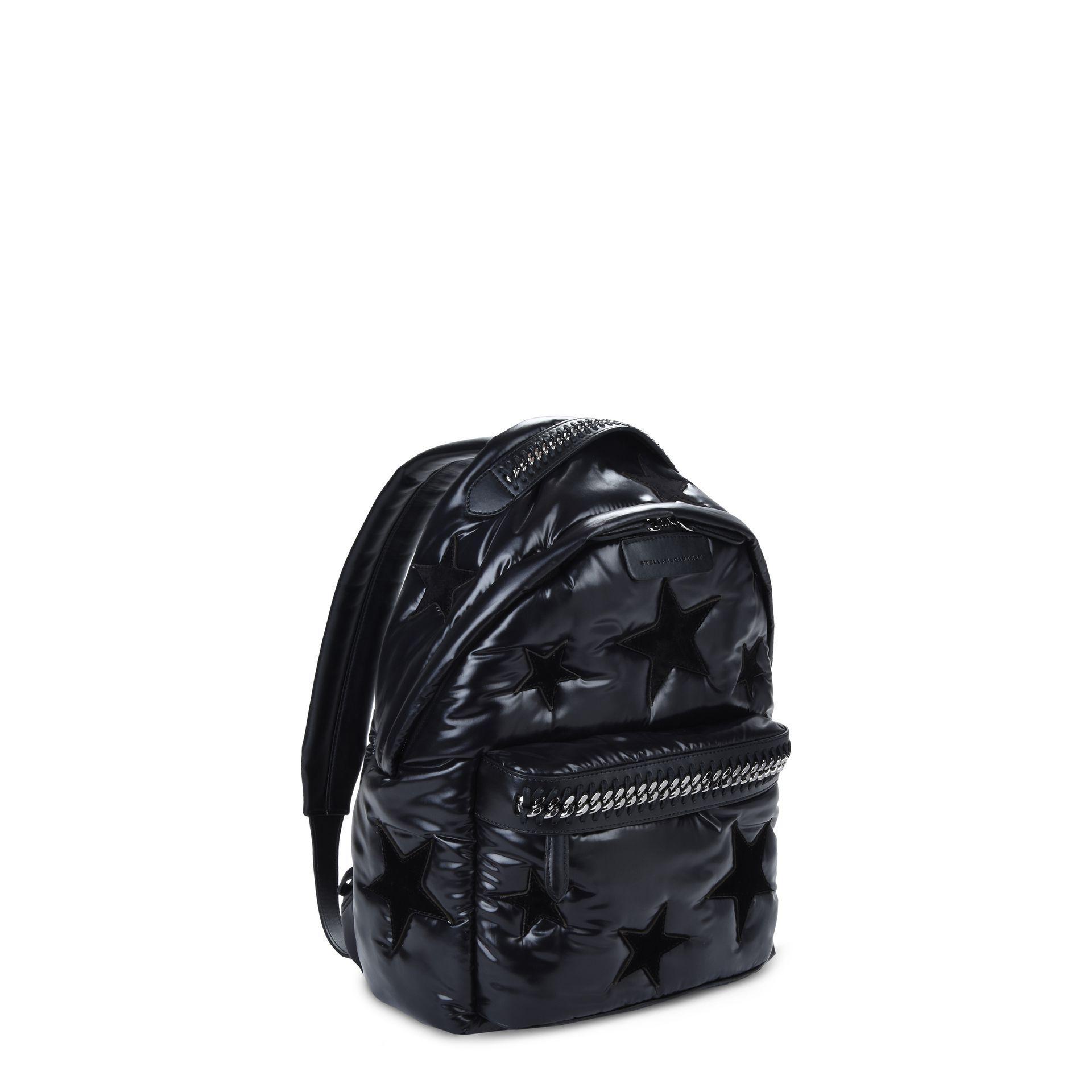 0f519ee4cd Lyst - Stella McCartney Black Stars Falabella Go Backpack in Black