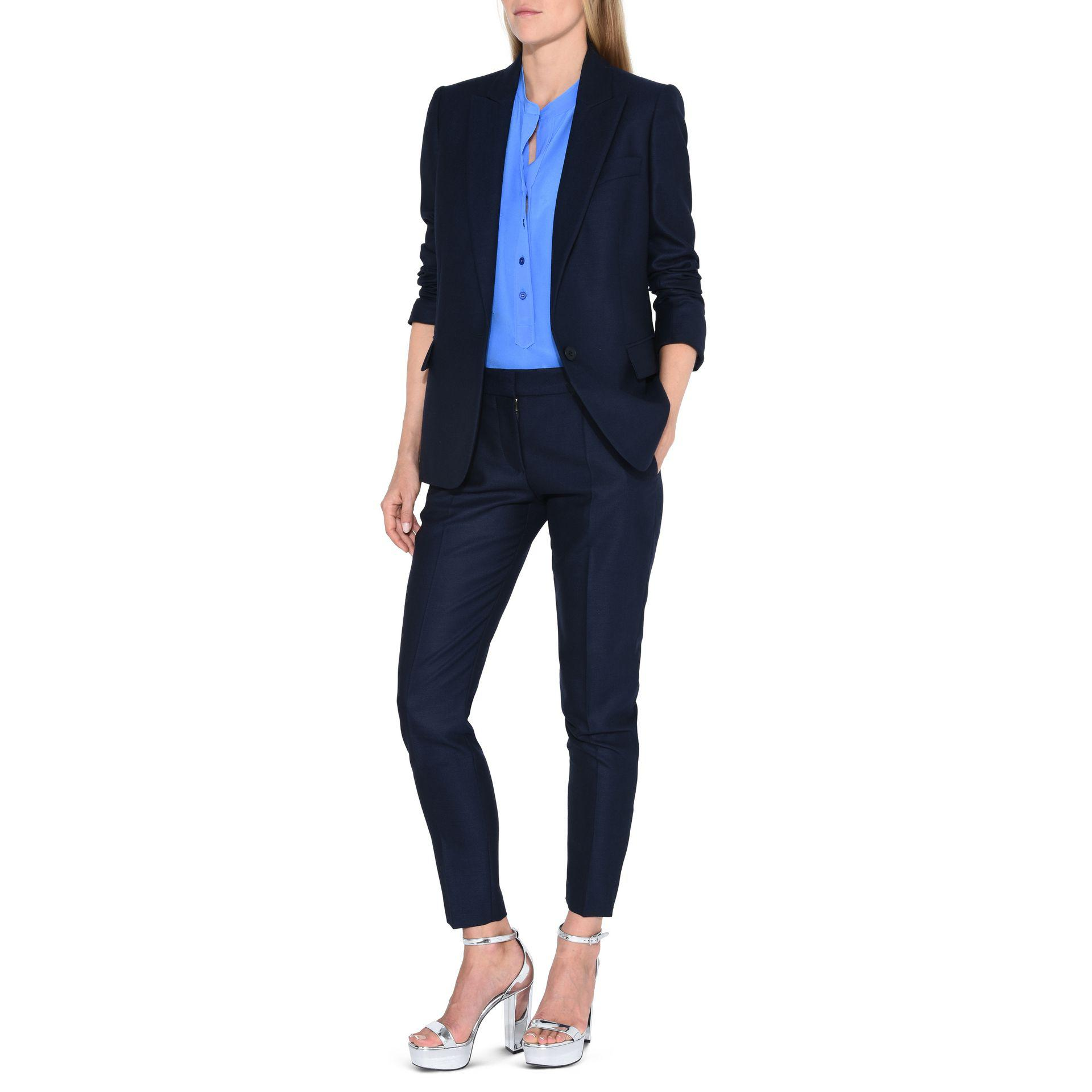 d21d5cc7450 Lyst - Stella Mccartney Ink Iris Jacket in Blue