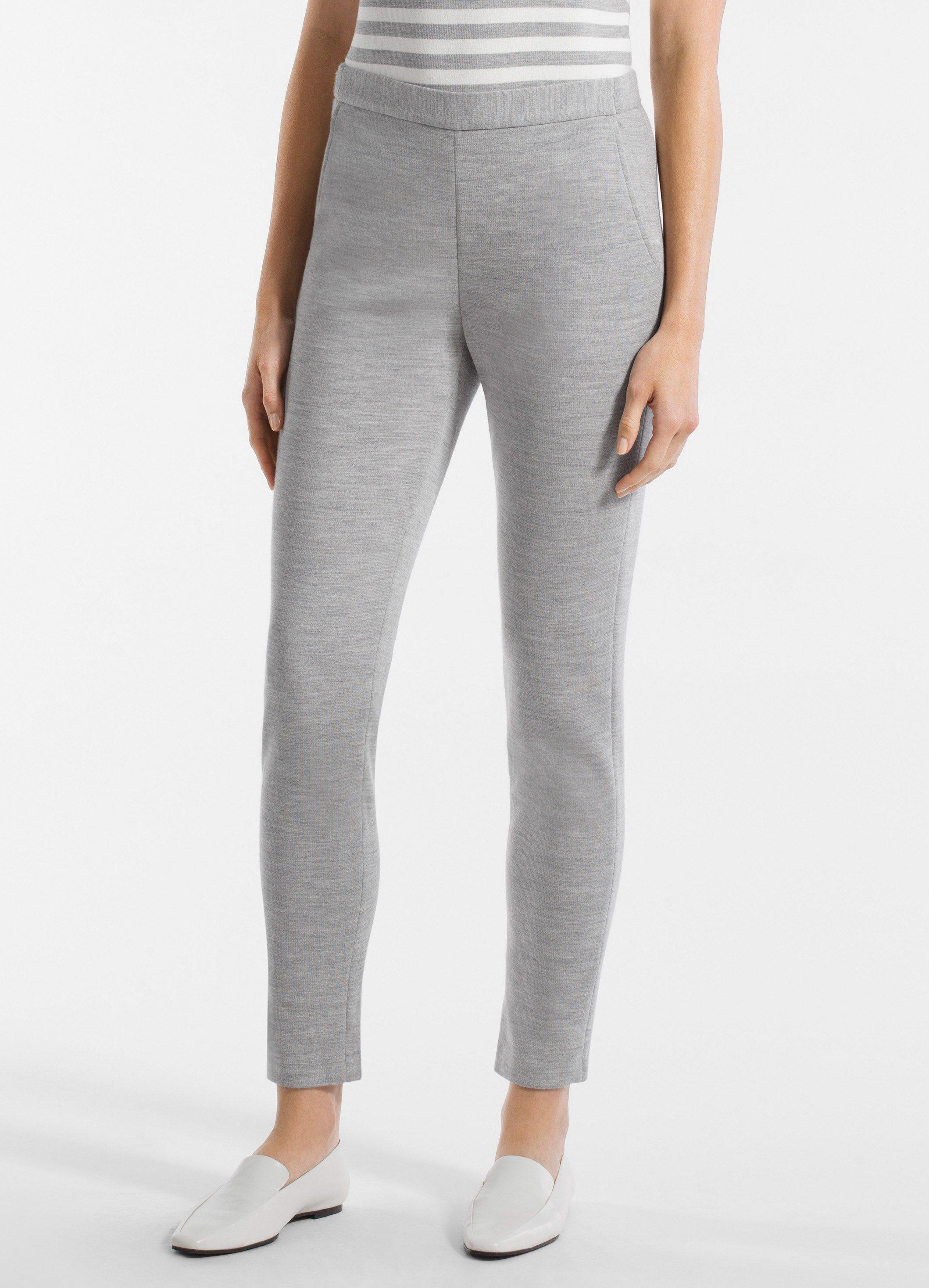 507f05ad866af Lyst - St. John Milano Knit Skinny Pants in Gray