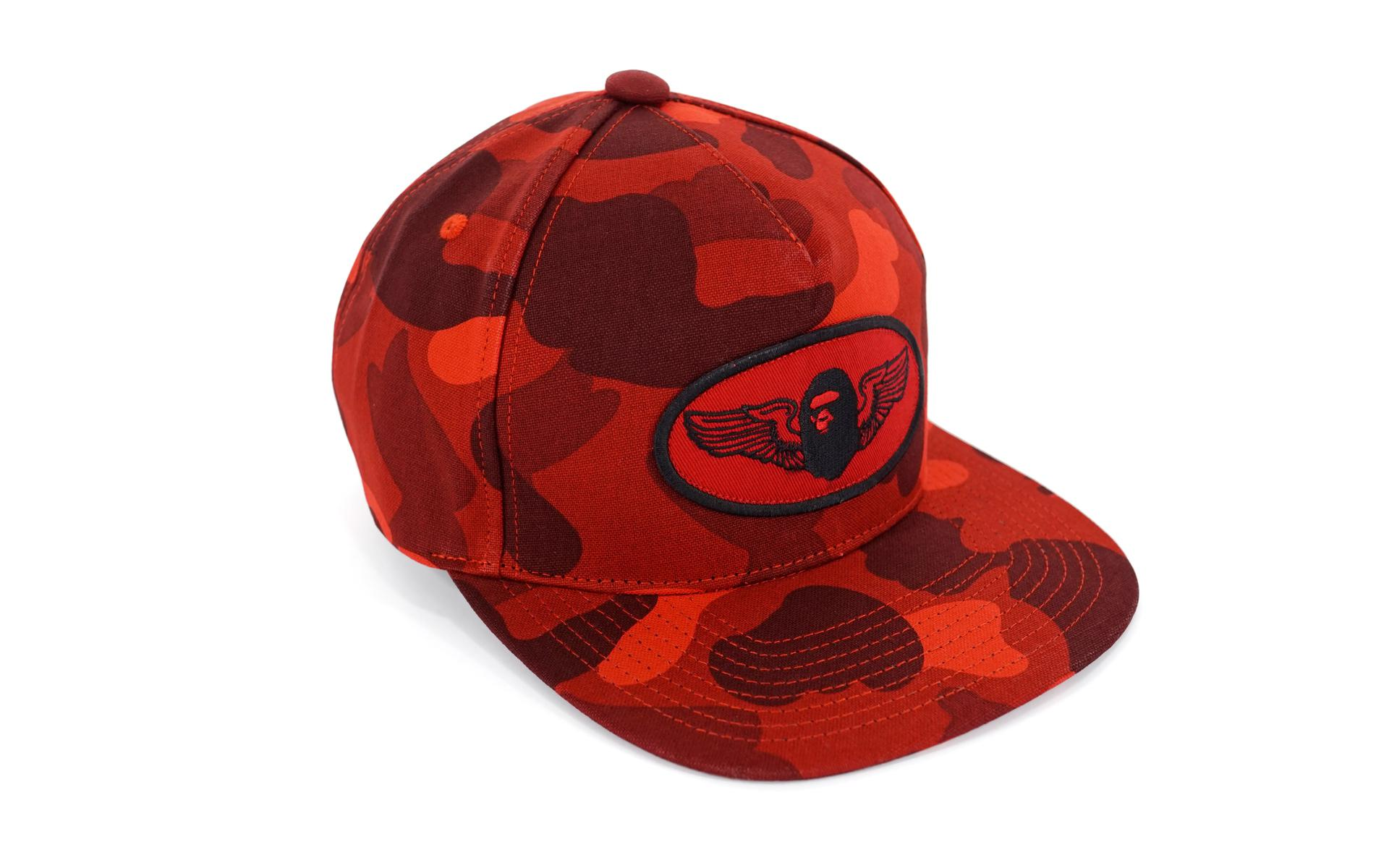 f209ac6e603 Lyst - A Bathing Ape Color Camo Wing Logo Snapback Red in Red for Men