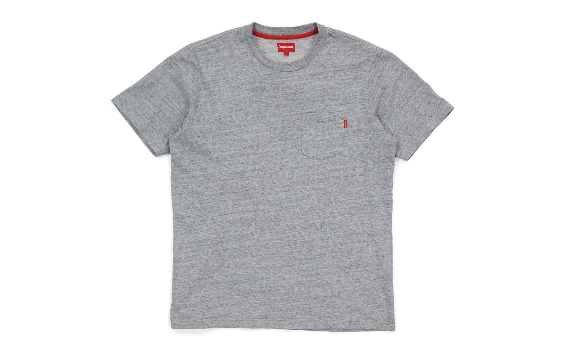 8f862769a81 Lyst - Supreme Pocket Tee (ss18) Heather Grey in Gray for Men