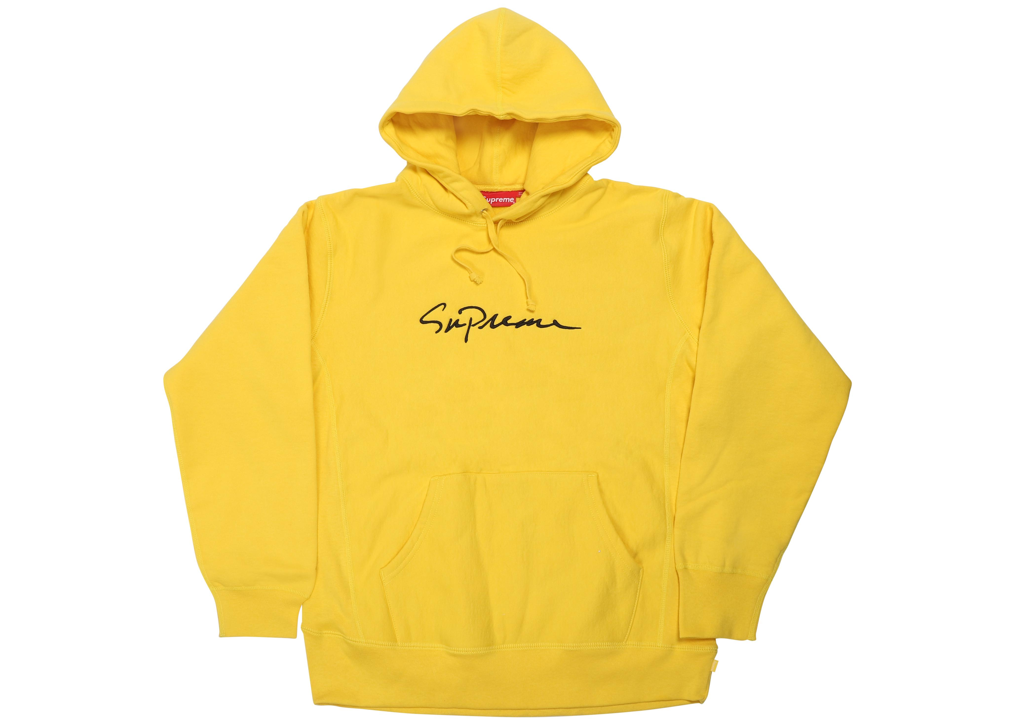 31f9a7139ecd Lyst - Supreme Classic Script Hooded Sweatshirt Yellow in Yellow for Men
