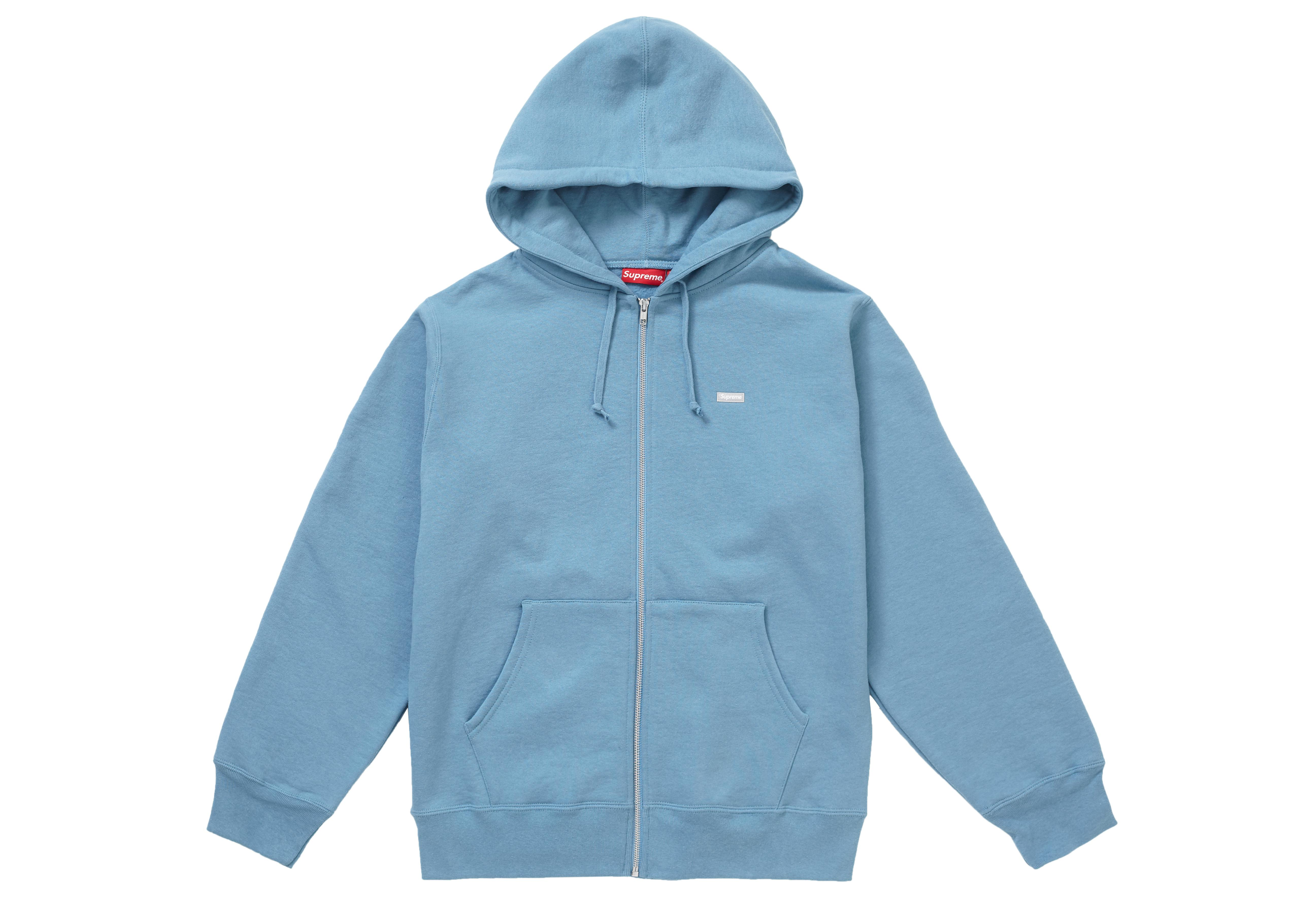 a8465b5b15dc Supreme - Reflective Small Box Zip Up Sweatshirt Dusty Blue for Men - Lyst.  View fullscreen