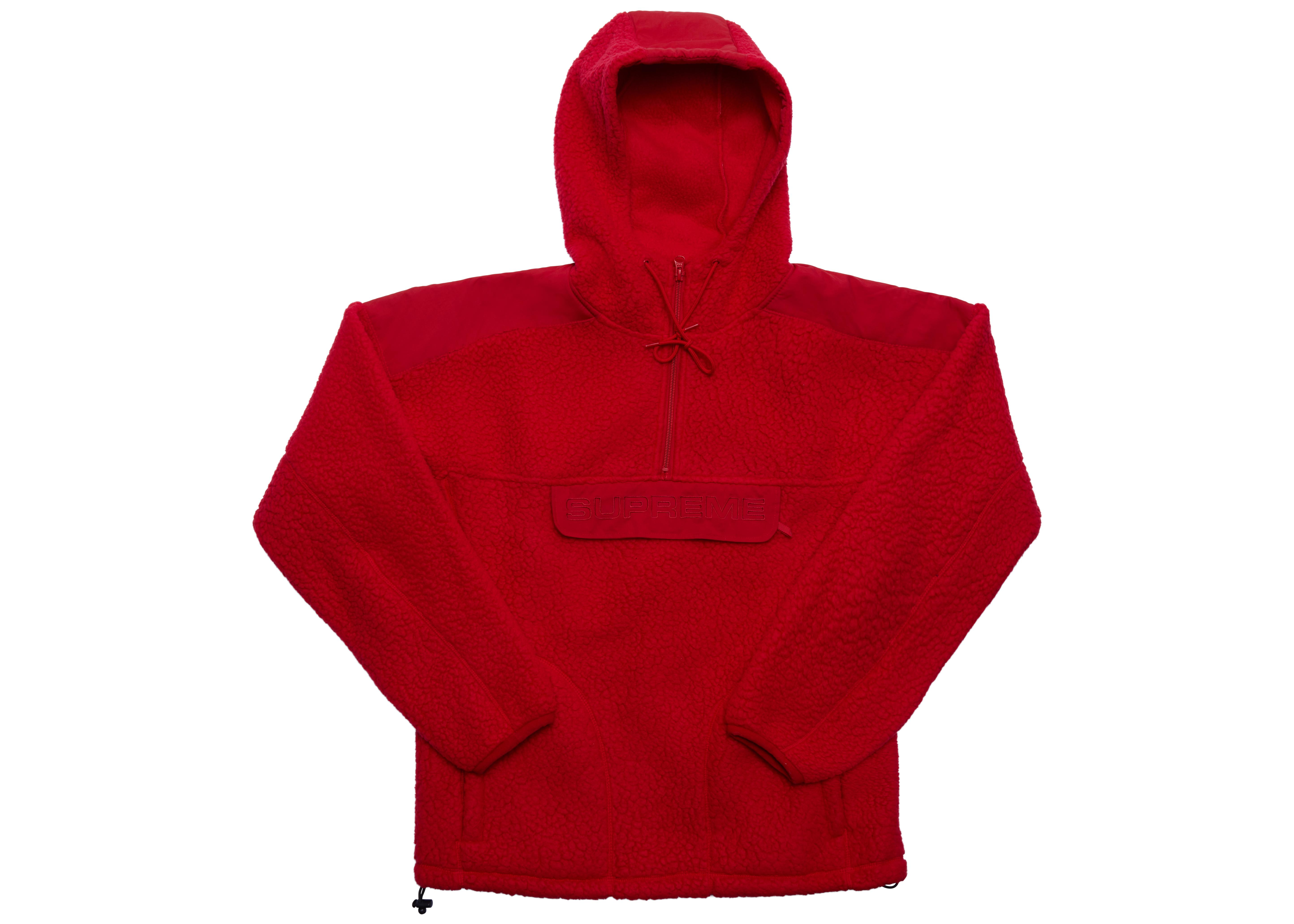87dd1a81c756 Lyst - Supreme Polartec Hooded Half Zip Pullover Red in Red for Men
