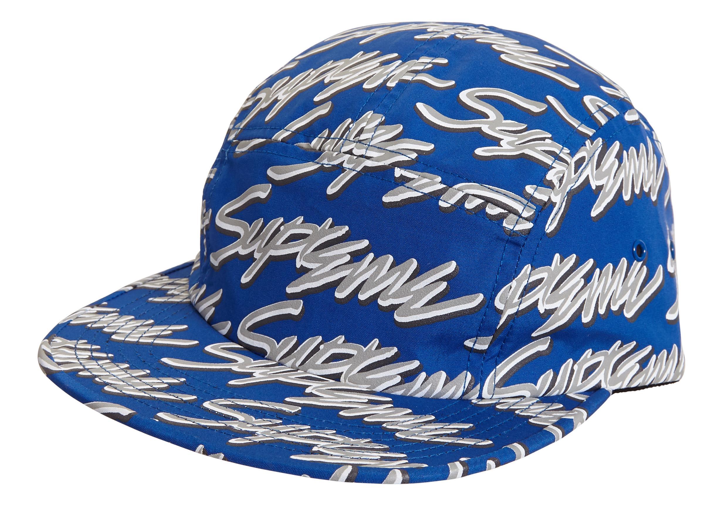 58e619aa Supreme Signature Script Logo Camp Cap Royal in Blue for Men - Lyst