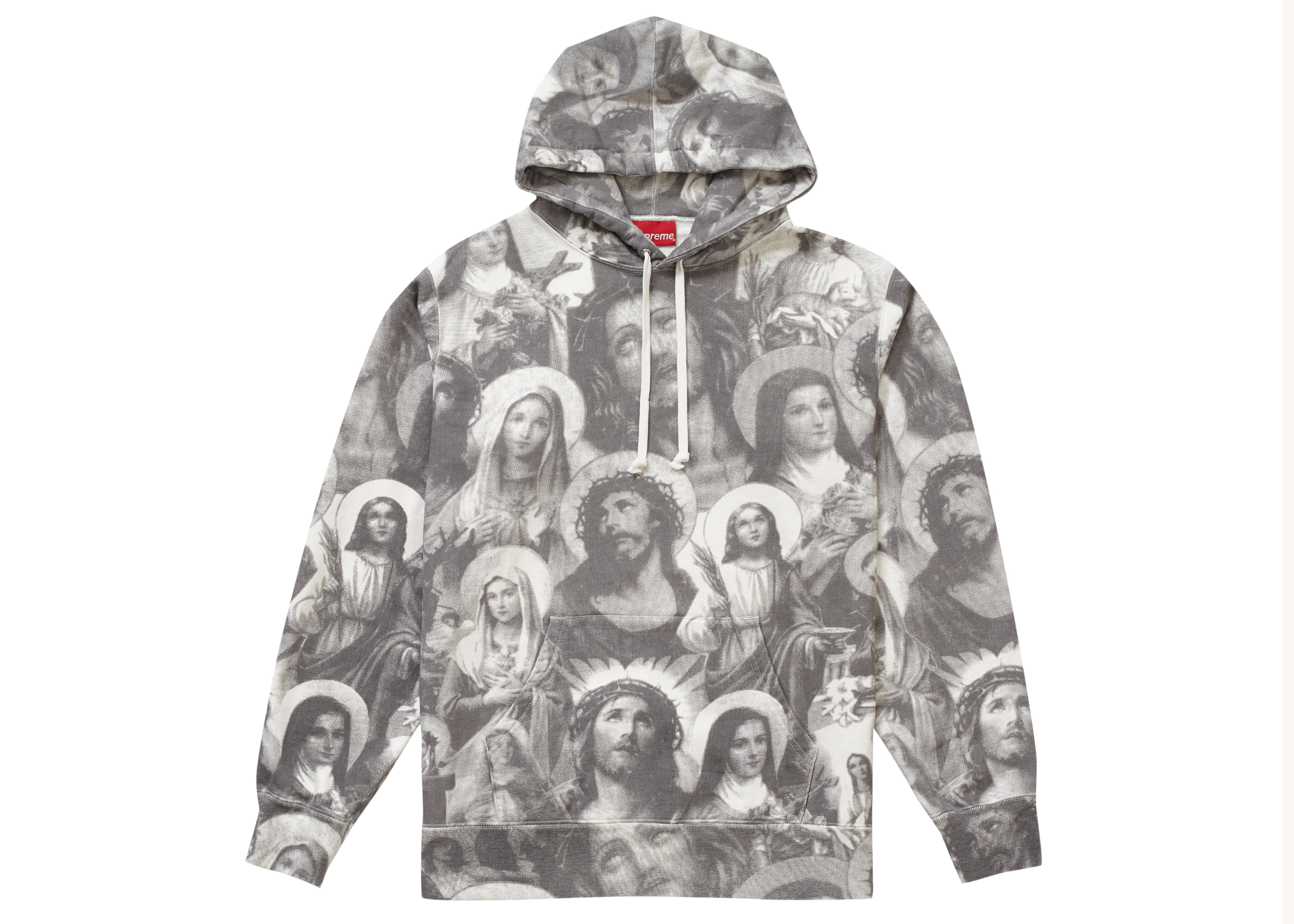 9e1293fc Tap to visit site. Supreme - Gray Jesus And Mary Hooded Sweatshirt ...