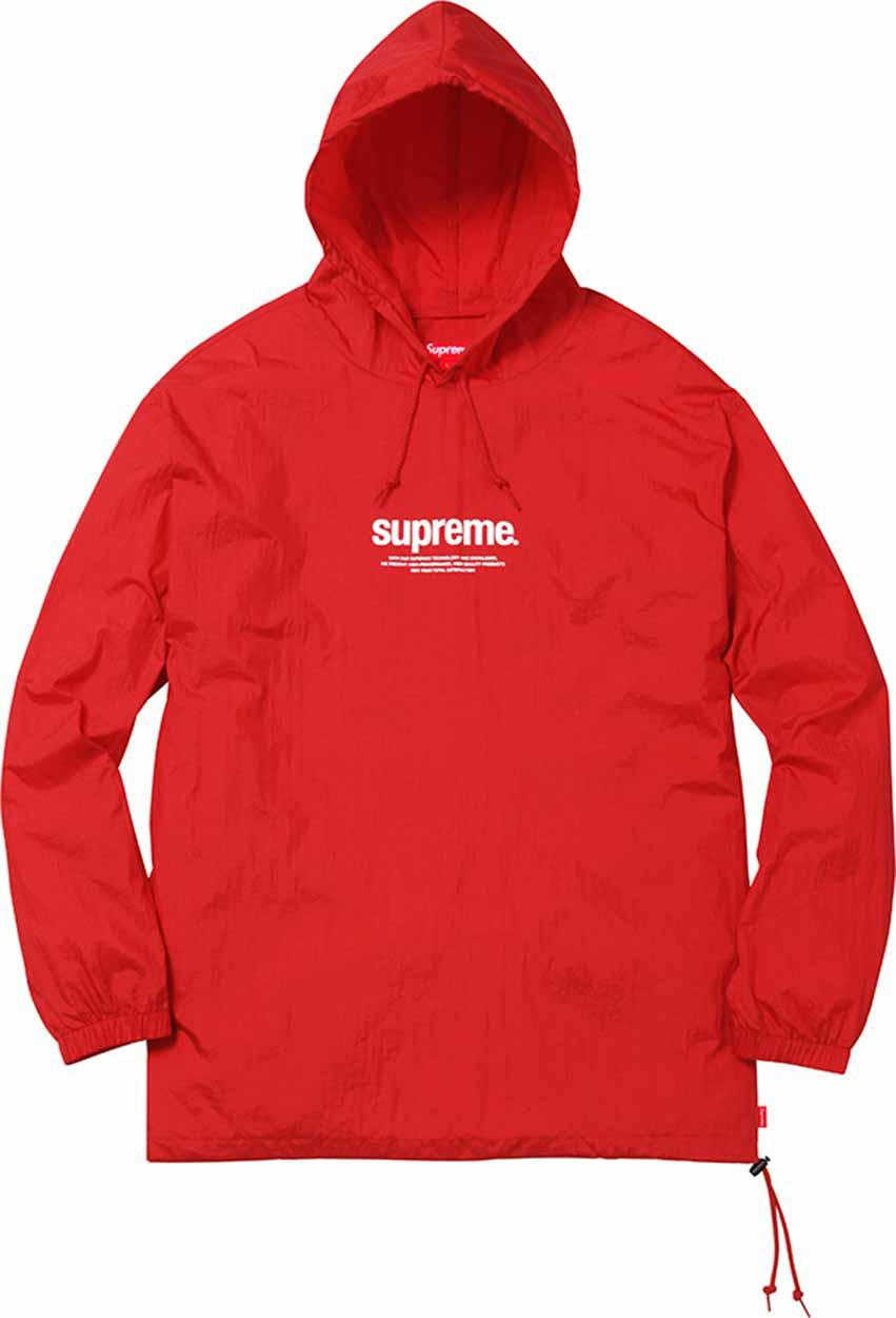 5fbc464920f3 Lyst - Supreme Nylon Packable Poncho Red in Red for Men