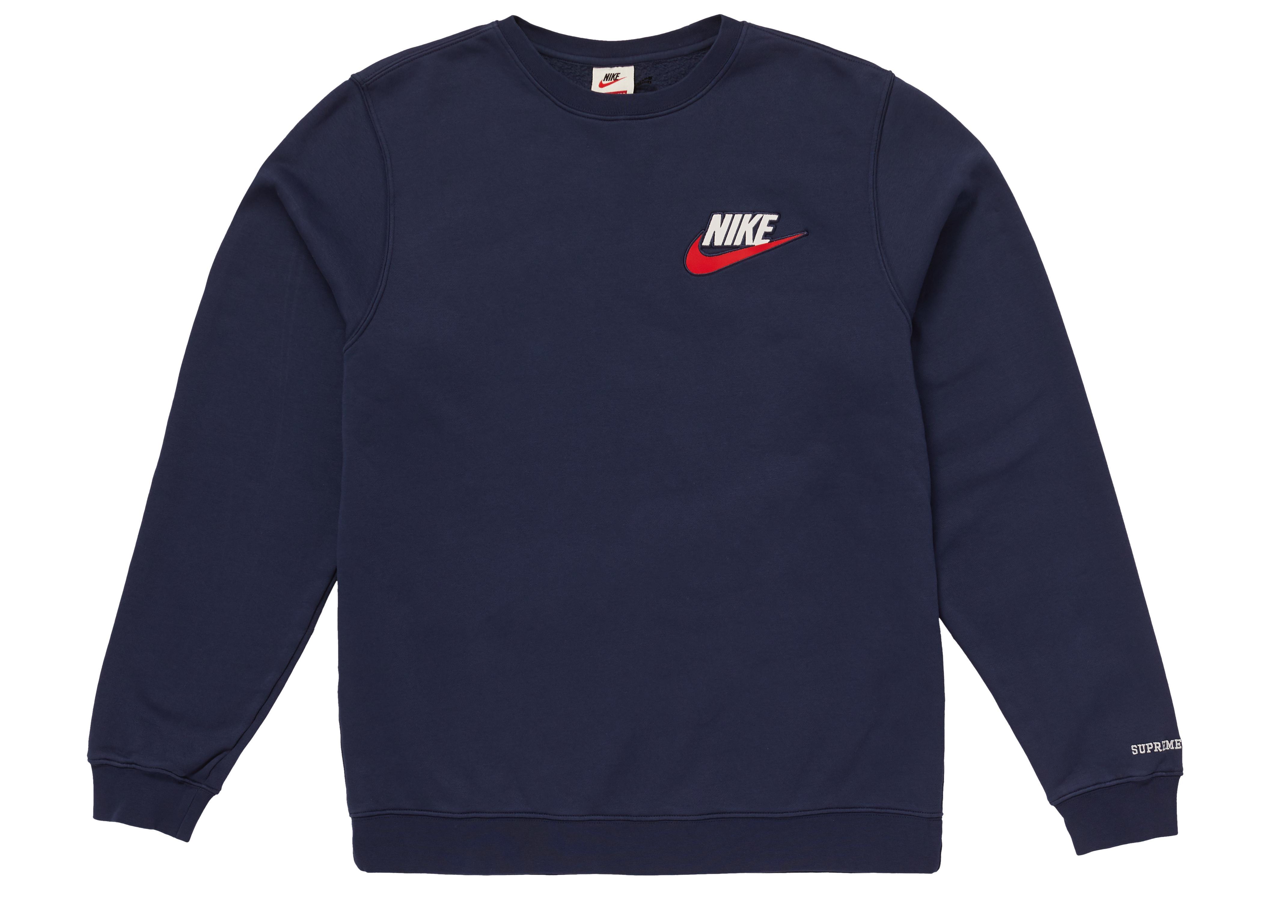 9450ca53 Supreme Blue Nike Crewneck Navy for men. View fullscreen