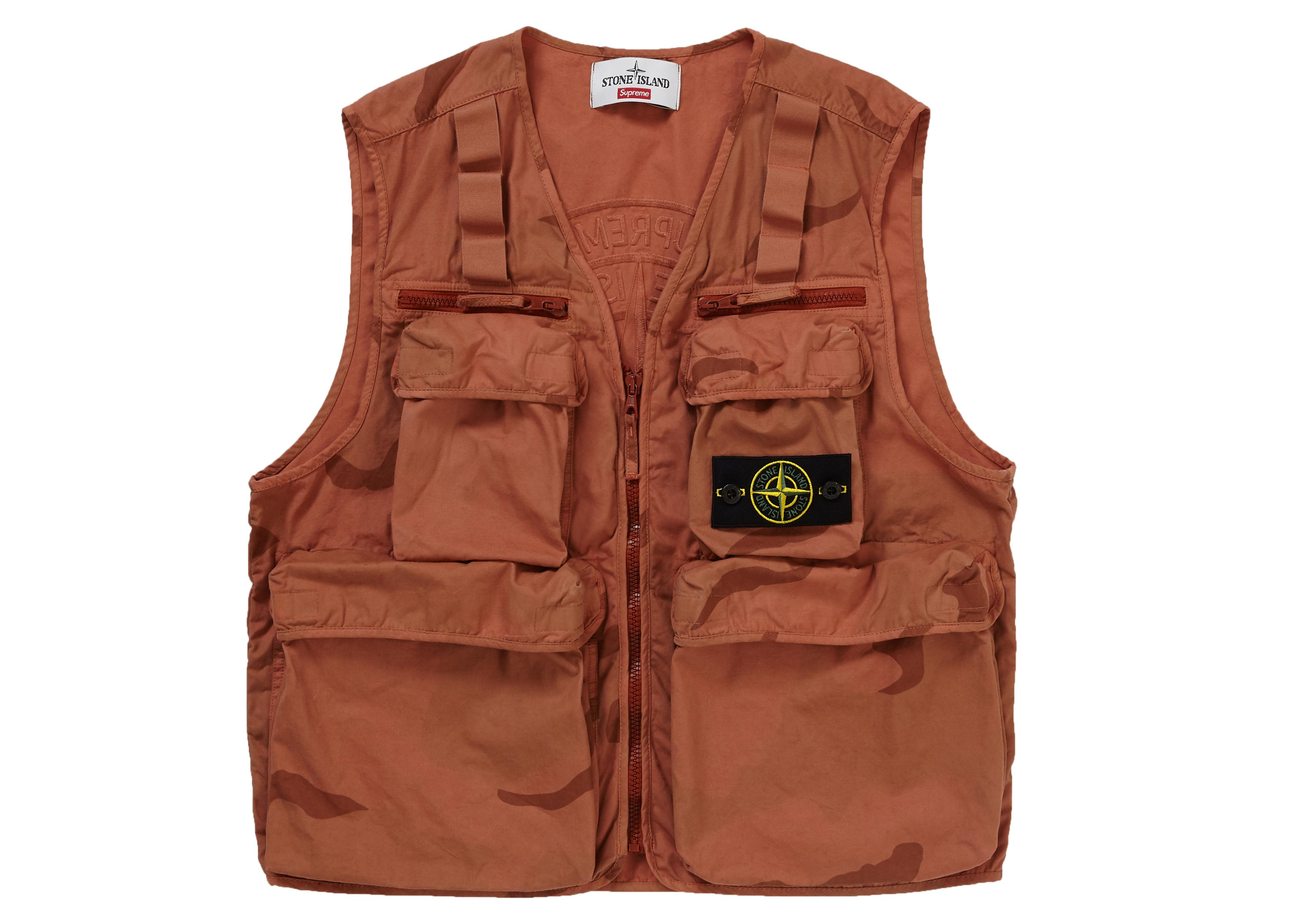 973bd9a6 Lyst - Supreme Stone Island Camo Cargo Vest Coral Camo in Brown for Men