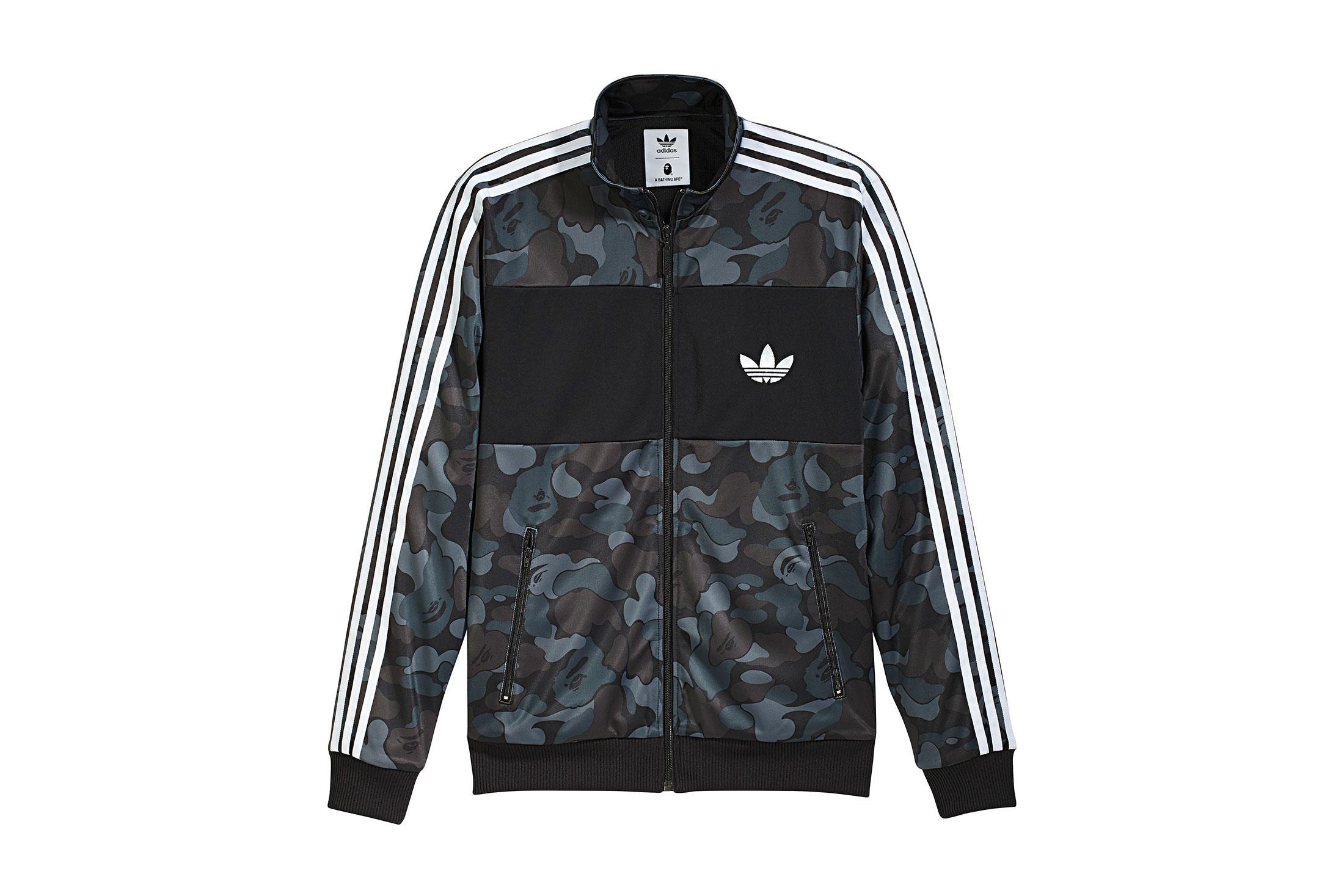 e11f9c29ae7f3 Lyst - A Bathing Ape X Adidas Abc Camo Track Jacket Black in Black ...