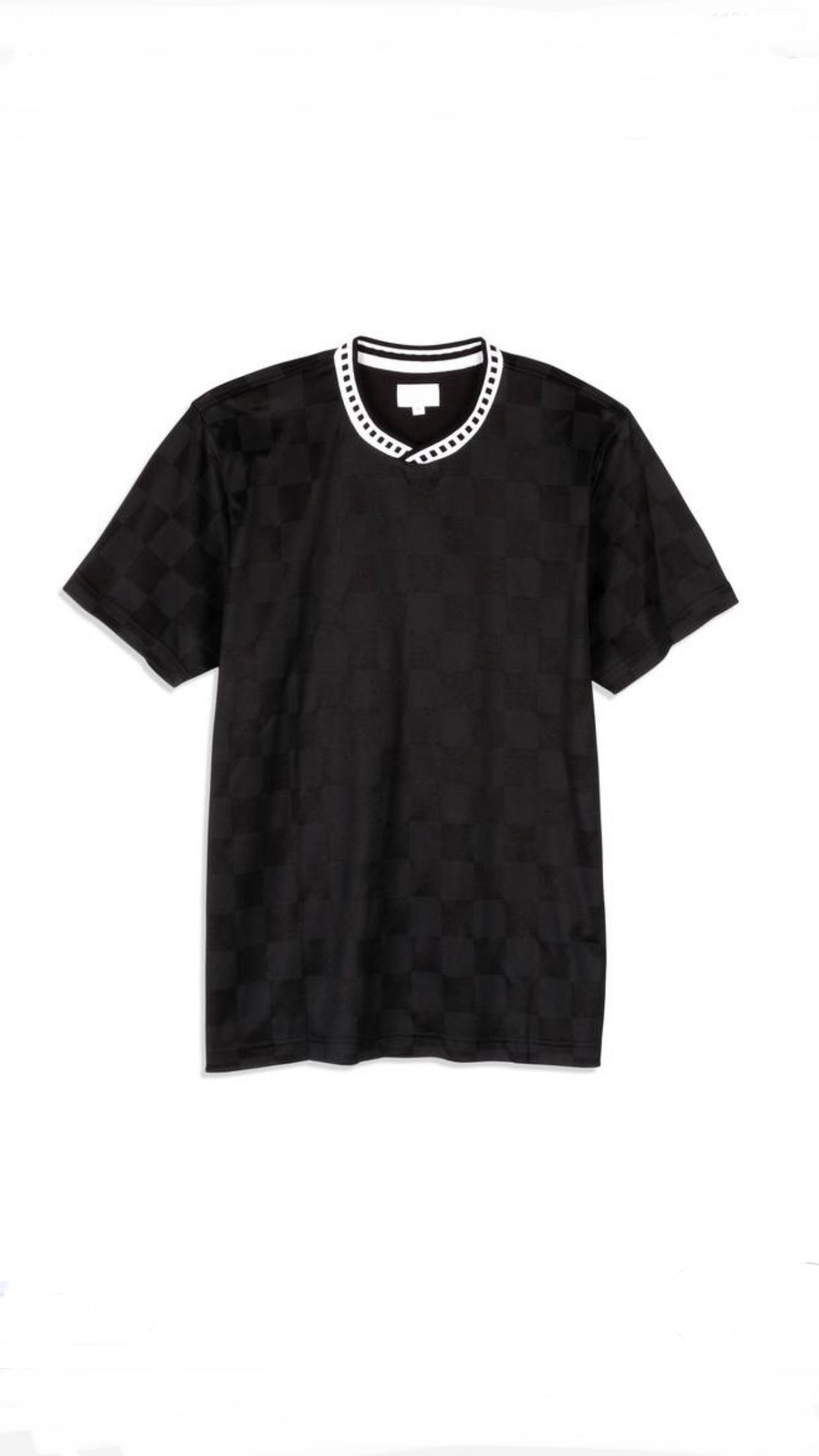 Lyst - Supreme Checker Soccer Jersey Black in Black for Men aaedd002d