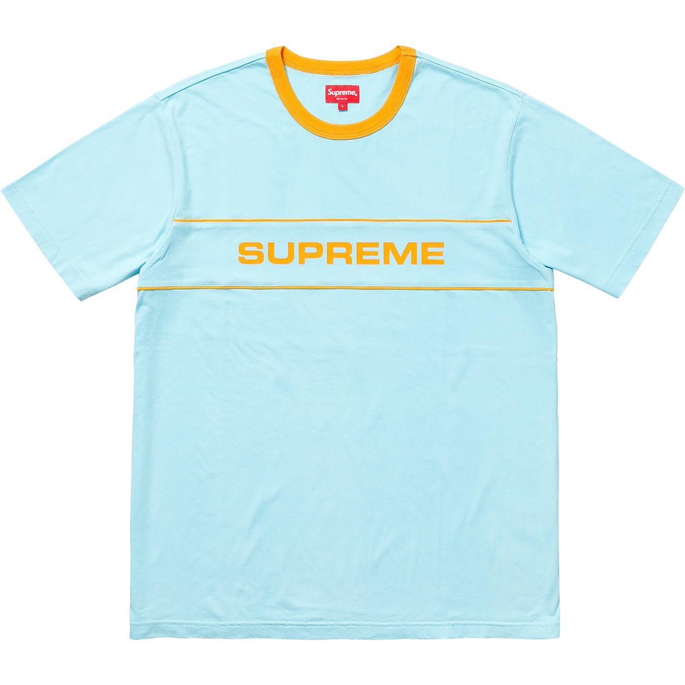 c82d3827a73d Supreme - Team Ringer Tee Light Blue for Men - Lyst. View fullscreen