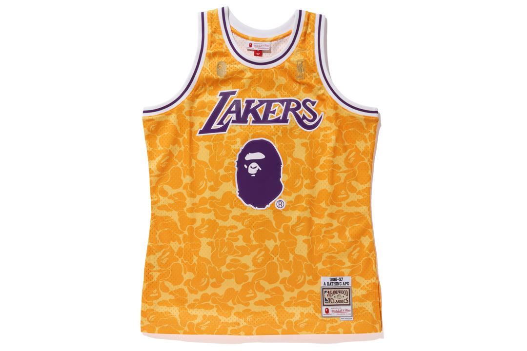 5fed93b28 A Bathing Ape. Men s X Mitchell   Ness Lakers Abc Basketball Swingman Jersey  Yellow