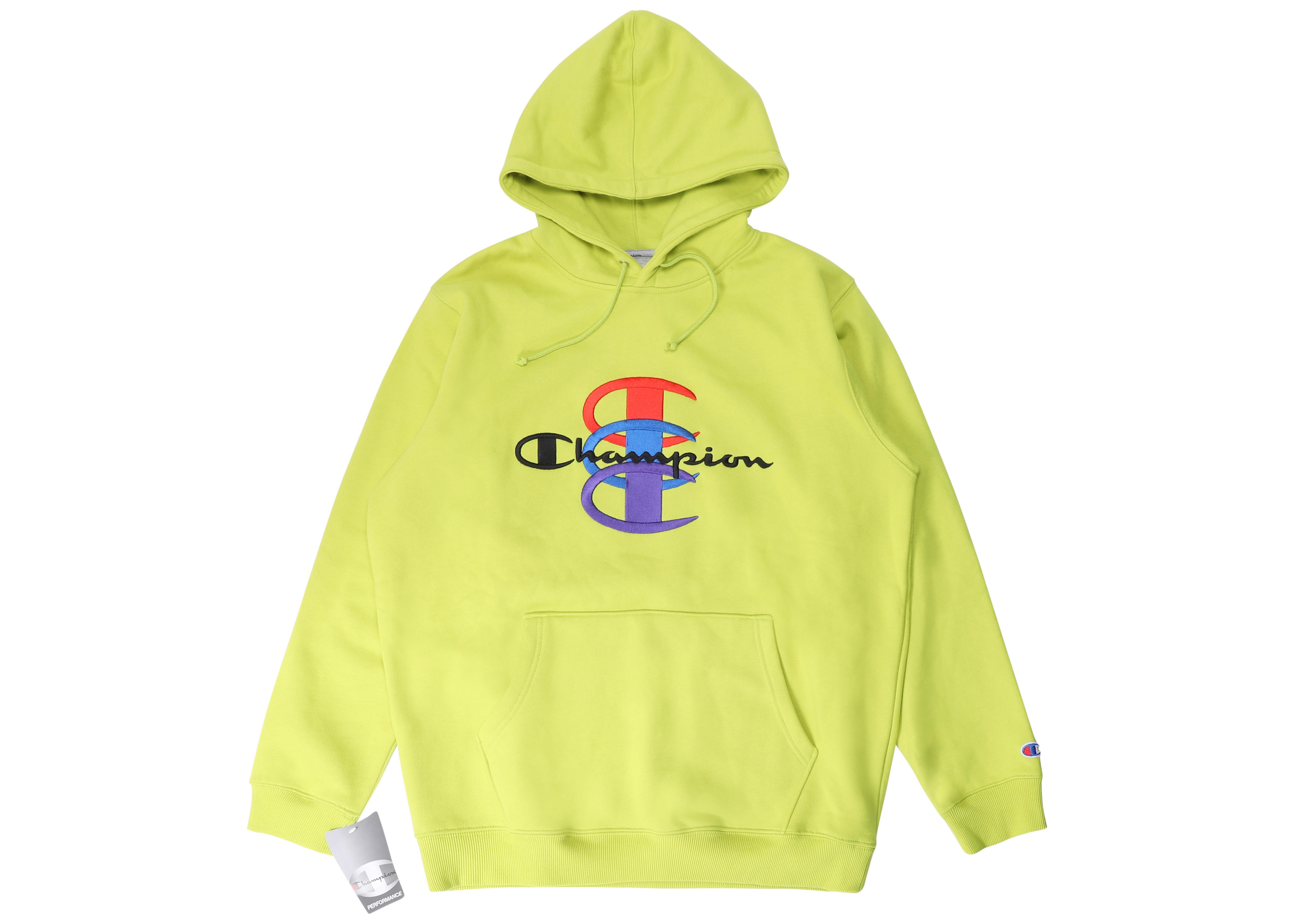 e63d303f Supreme Champion Stacked C Hooded Sweatshirt Bright Green in Green ...