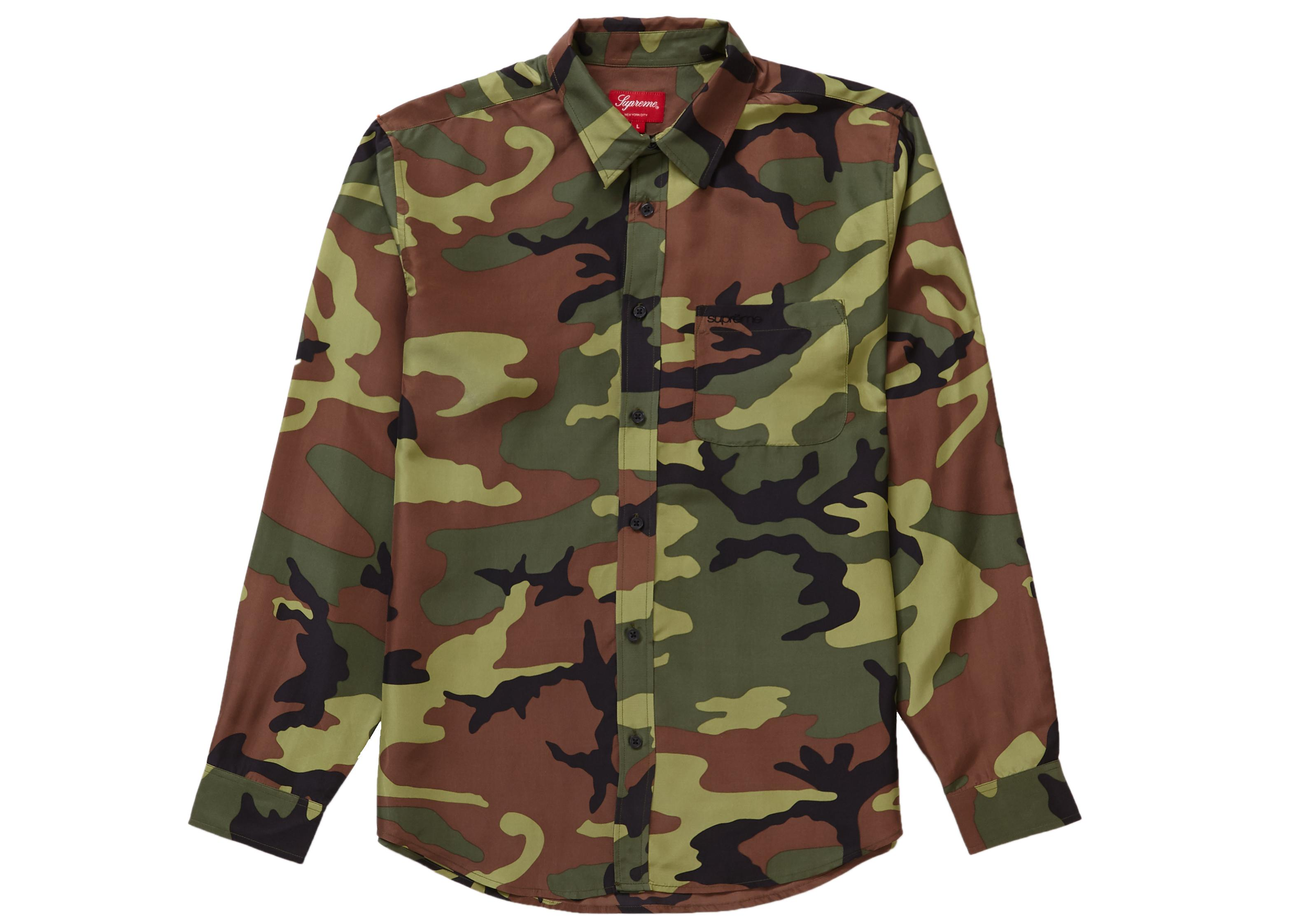 f0a24adc Supreme Silk Camo Shirt Woodland Camo in Green for Men - Save 24% - Lyst