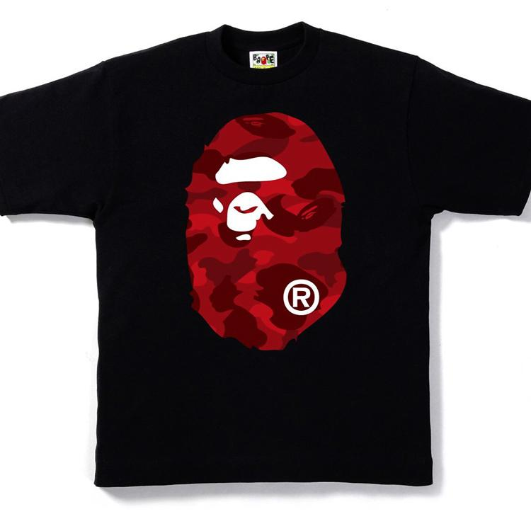 d016d96f A Bathing Ape Color Camo Big Ape Head Tee Black/red in Black for Men ...
