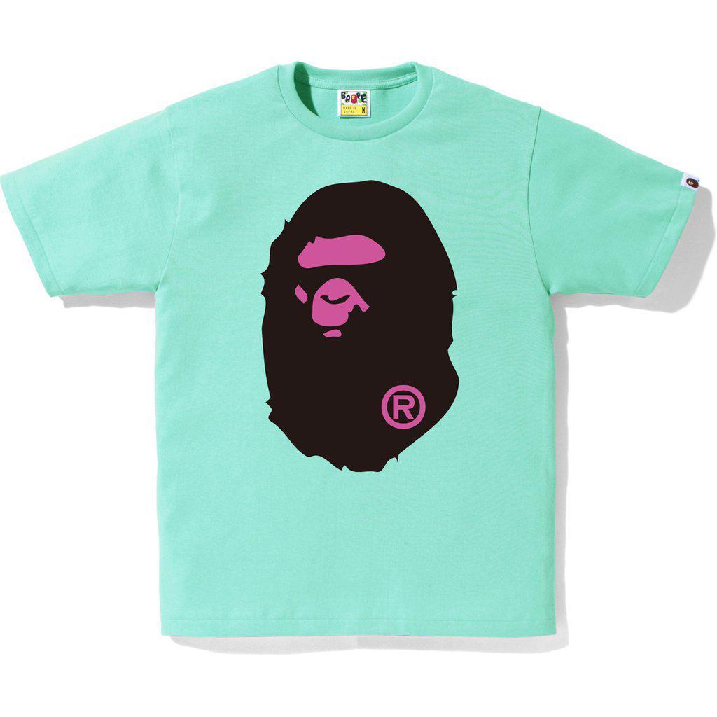 072c41c7 Lyst - A Bathing Ape Colors Big Ape Head Tee (ss18) Green in Green ...