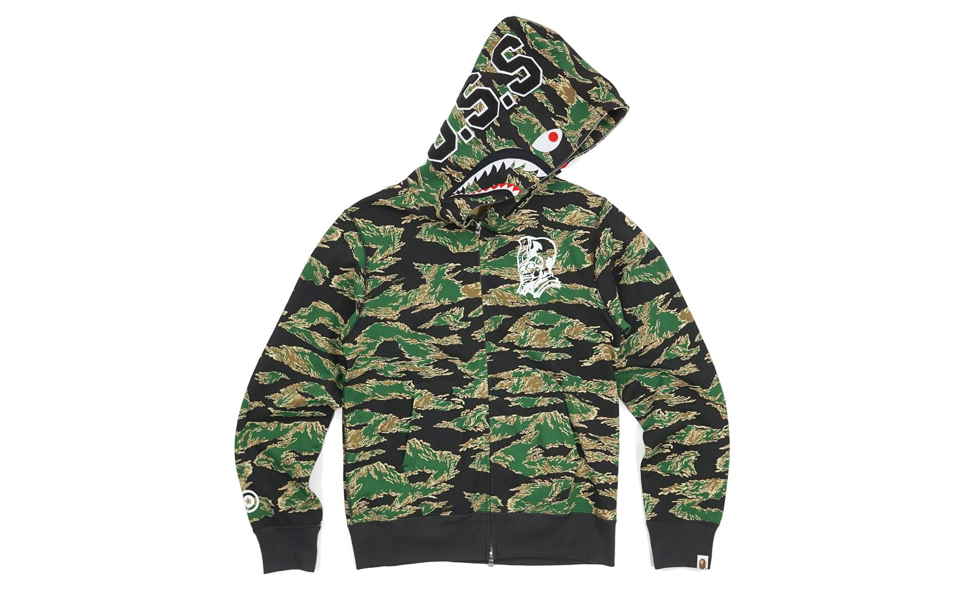 771ff8c7a50f Lyst - A Bathing Ape Ursus Tiger Camo Shark Green in Green for Men