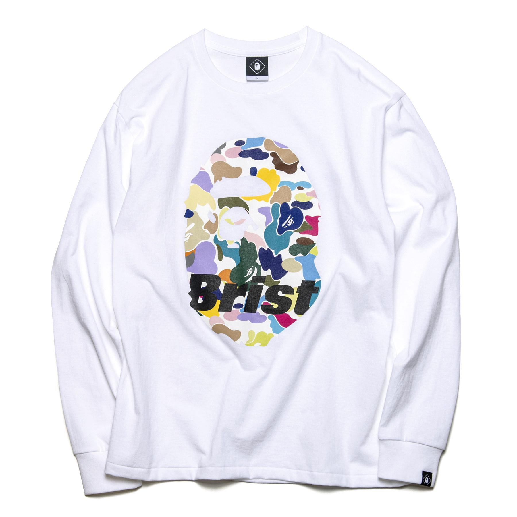 9bb296c0 Lyst - A Bathing Ape X F.c.r.b. Ape Head L/s Tee White in White for Men