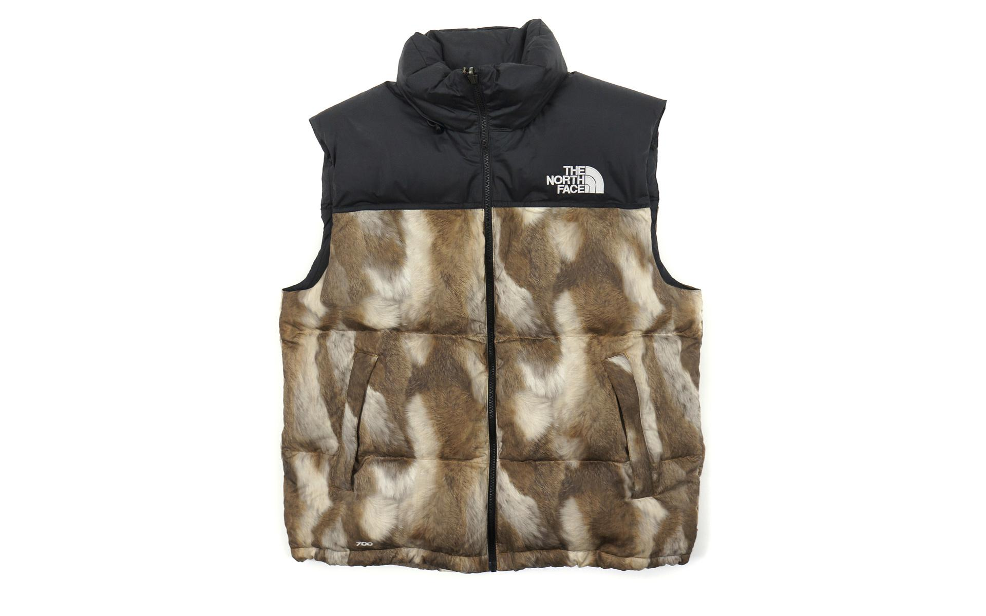 bcd3cc10c8ff Supreme - The North Face Fur Print Nuptse Brown for Men - Lyst. View  fullscreen