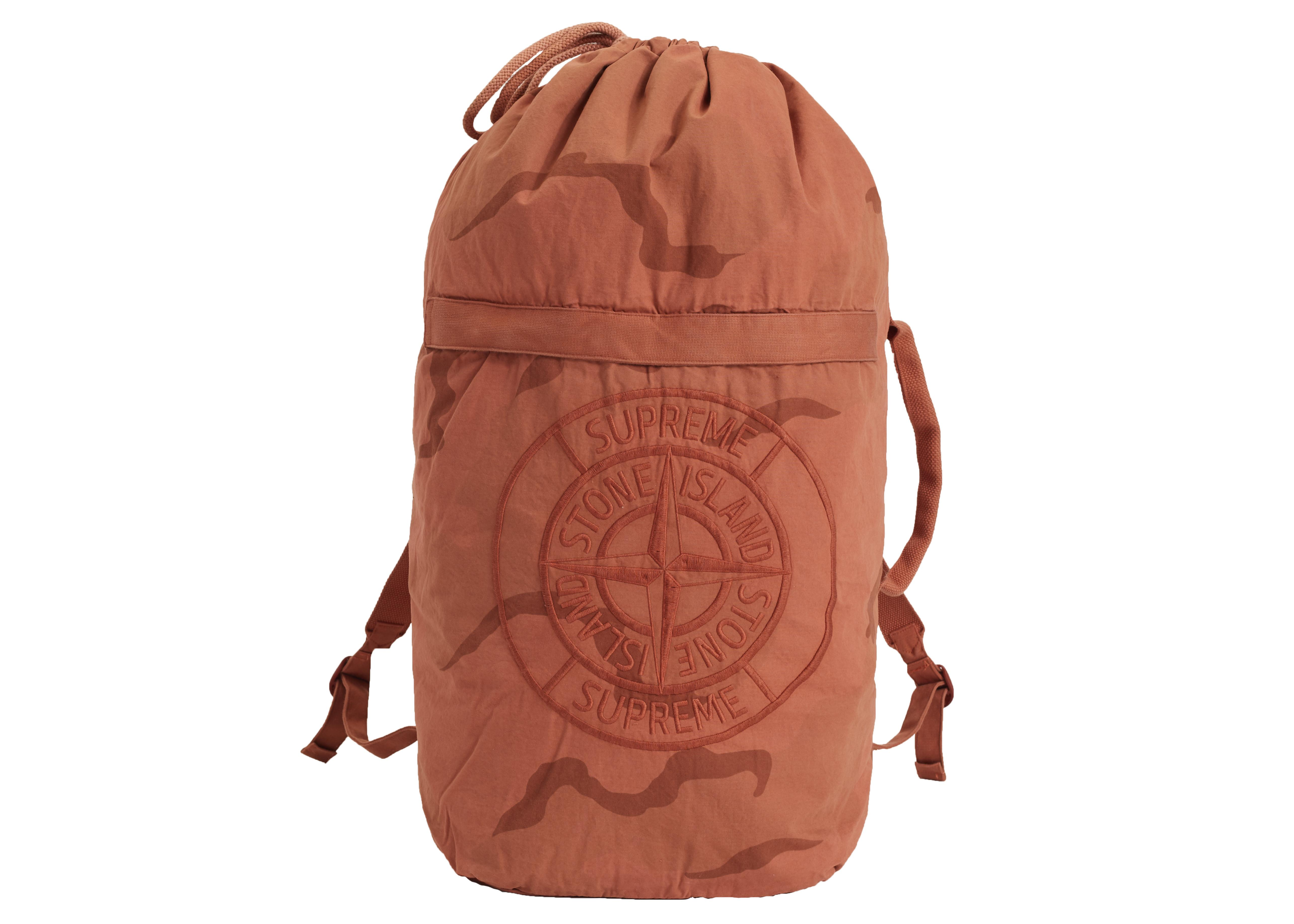 b6719619 Lyst - Supreme Stone Island Camo Backpack Coral Camo in Orange for Men