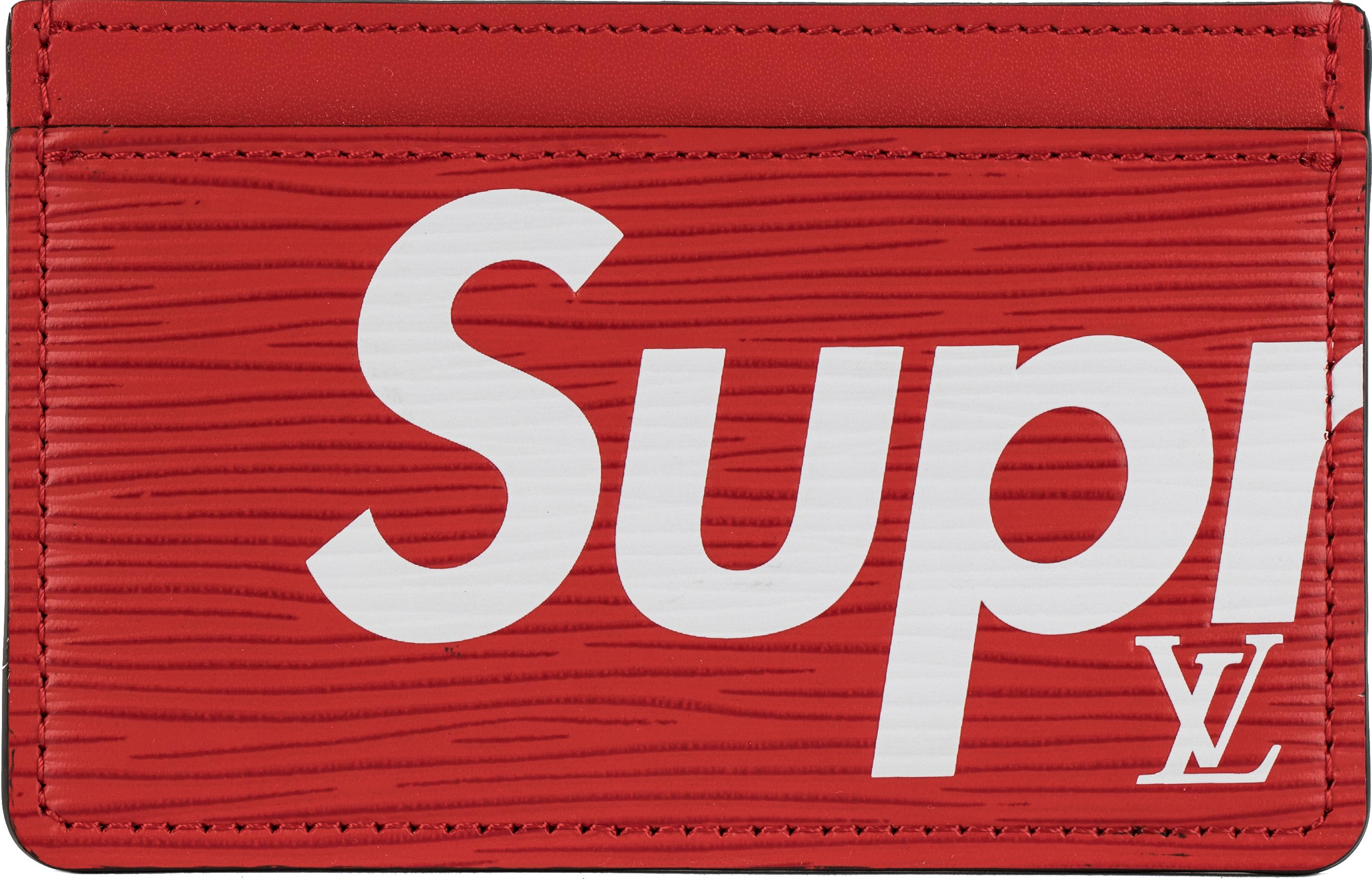 991760959a7d Lyst - Supreme Louis Vuitton X Porte Carte Simple Epi Red in Red