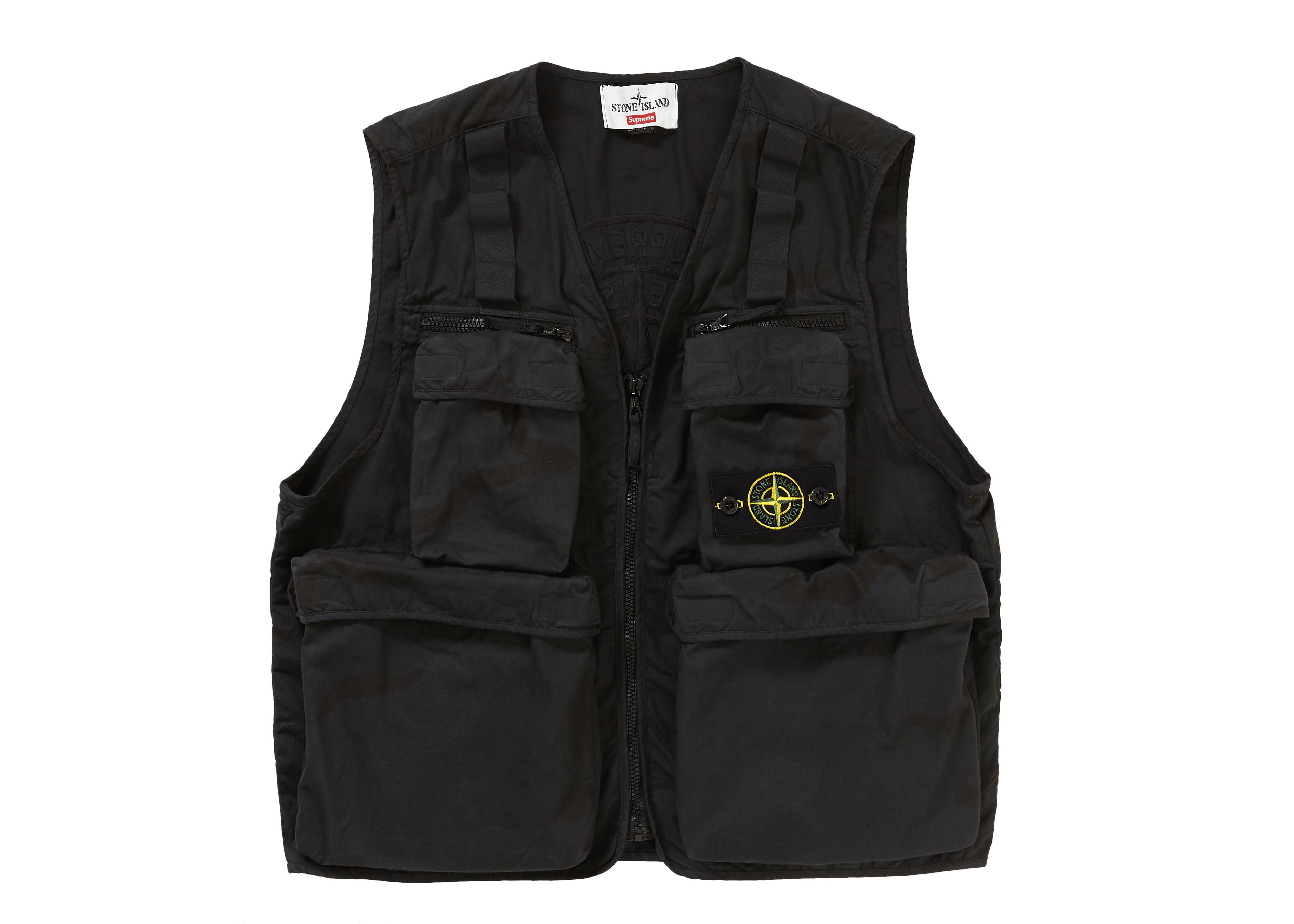 dd863a63d6dc1 Tap to visit site. Supreme - Stone Island Camo Cargo Vest Black Camo for Men  - Lyst