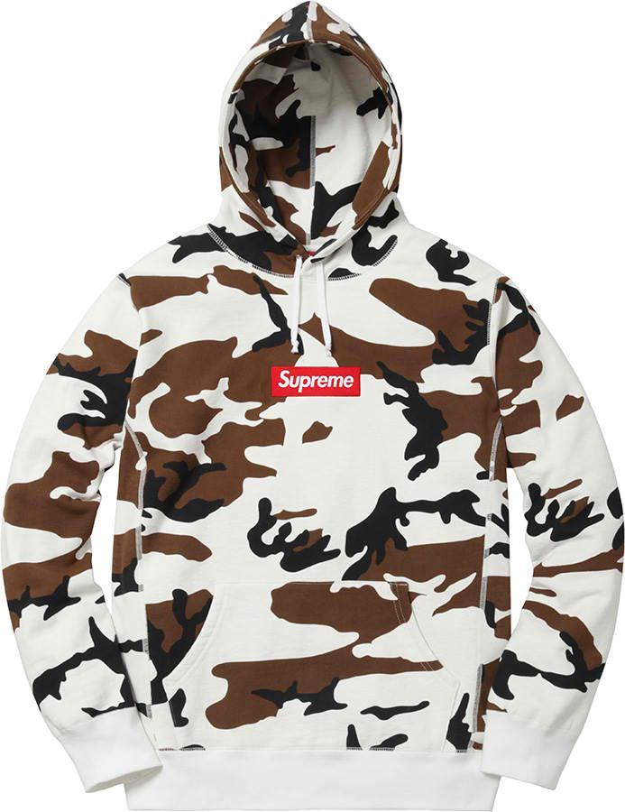8536989e436b Lyst - Supreme Box Logo Hooded Sweatshirt Camo for Men