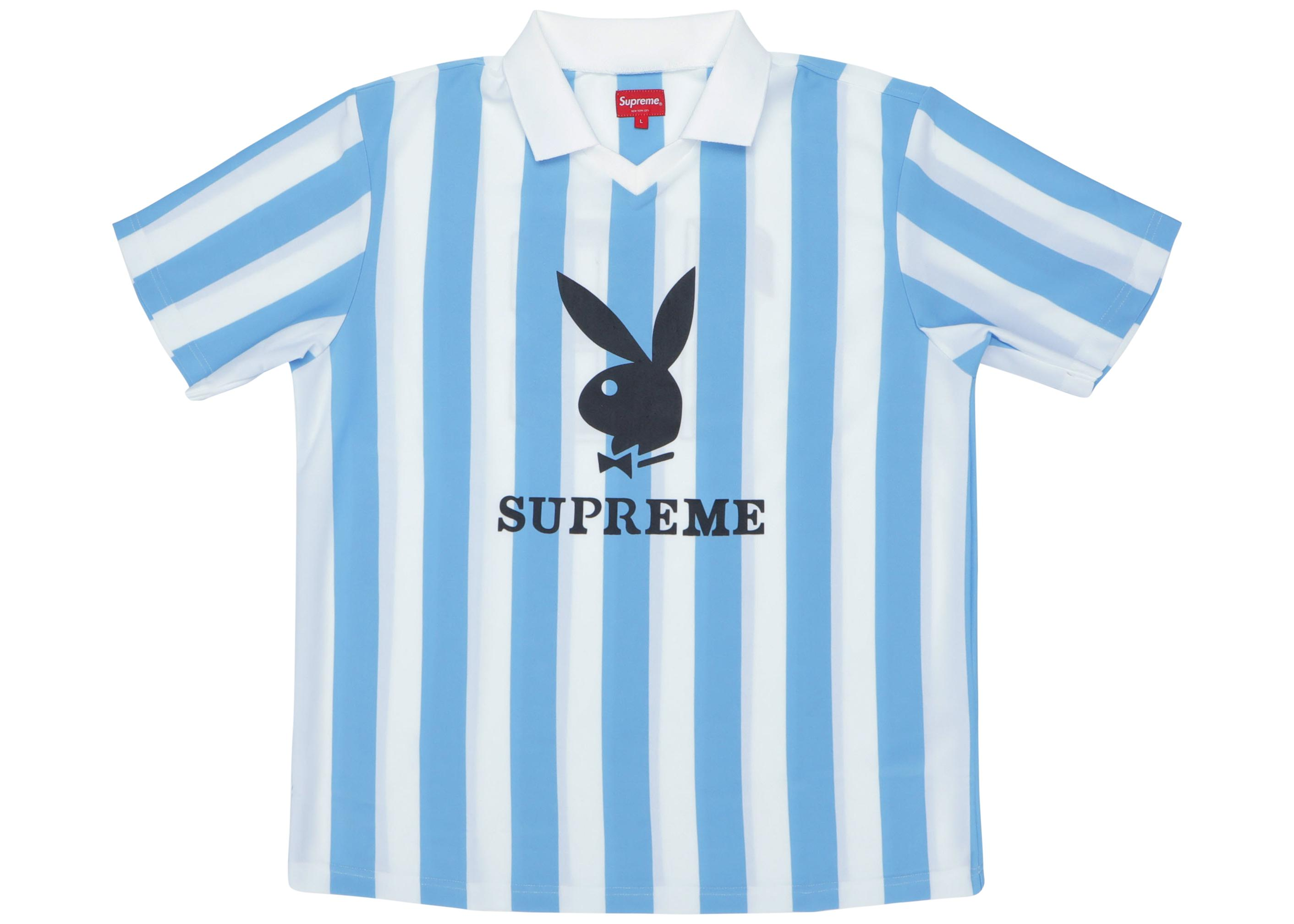78223fc71bec Supreme Playboy Soccer Jersey Light Blue in Blue for Men - Save 33 ...