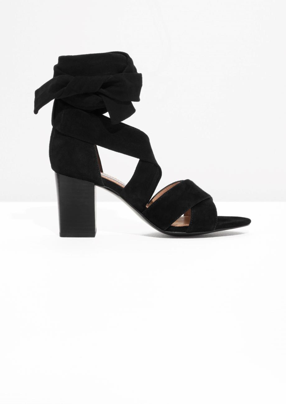 e9503878c5f Lyst -   Other Stories Suede Ankle Strap Sandalette in Black