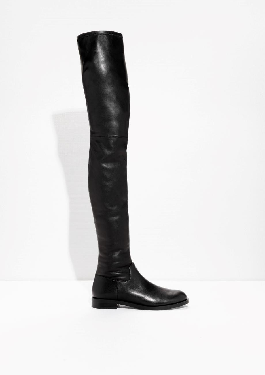 b25062146fd Lyst -   Other Stories Over The Knee Boots in Black