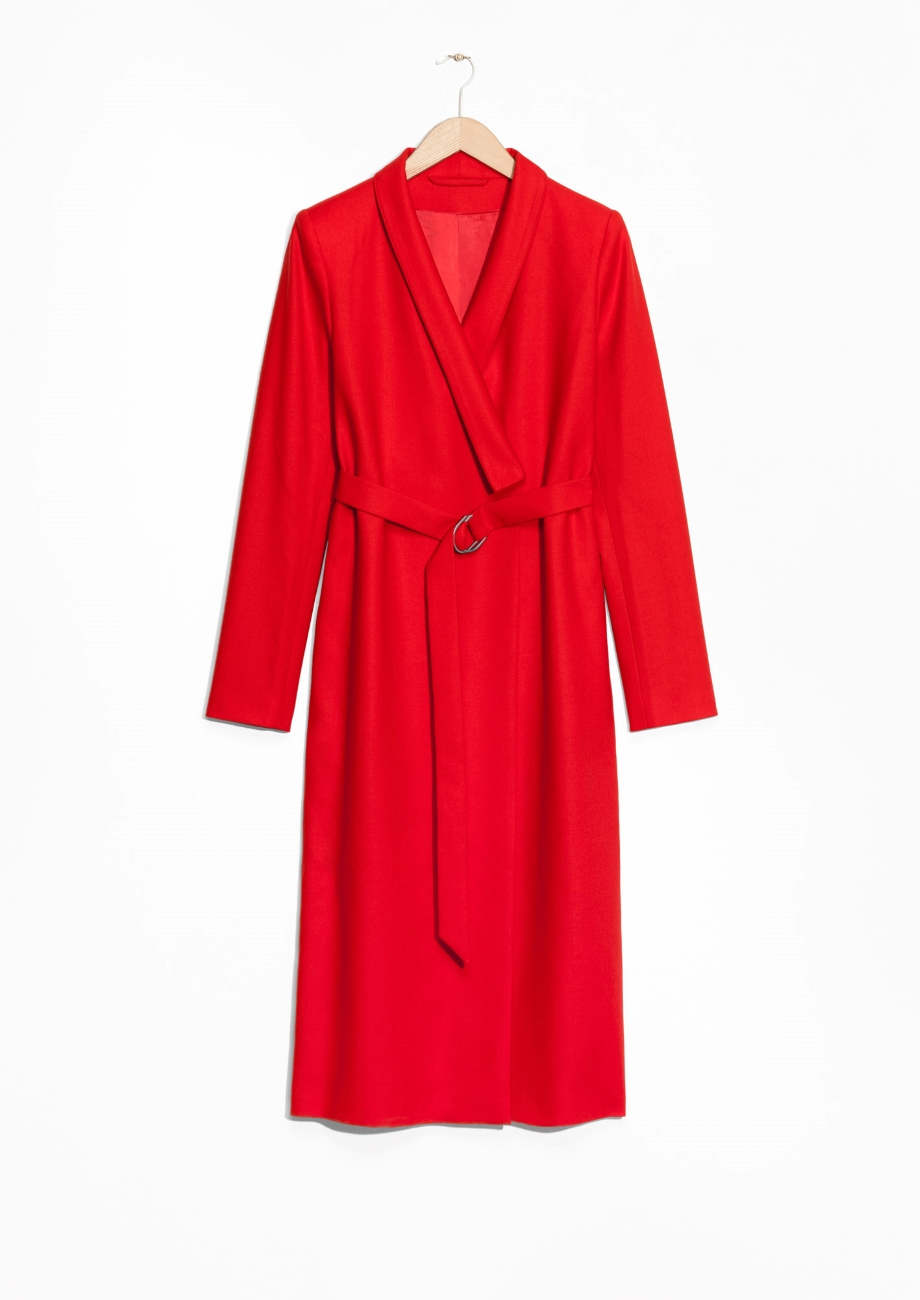 & other stories Kimono Coat in Red