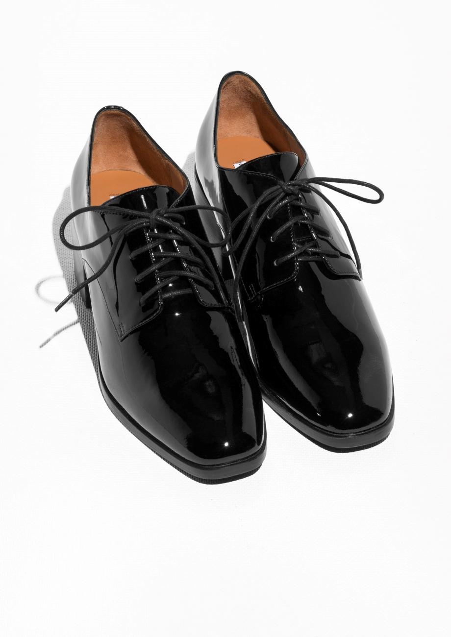 Faith Black Patent Shoes