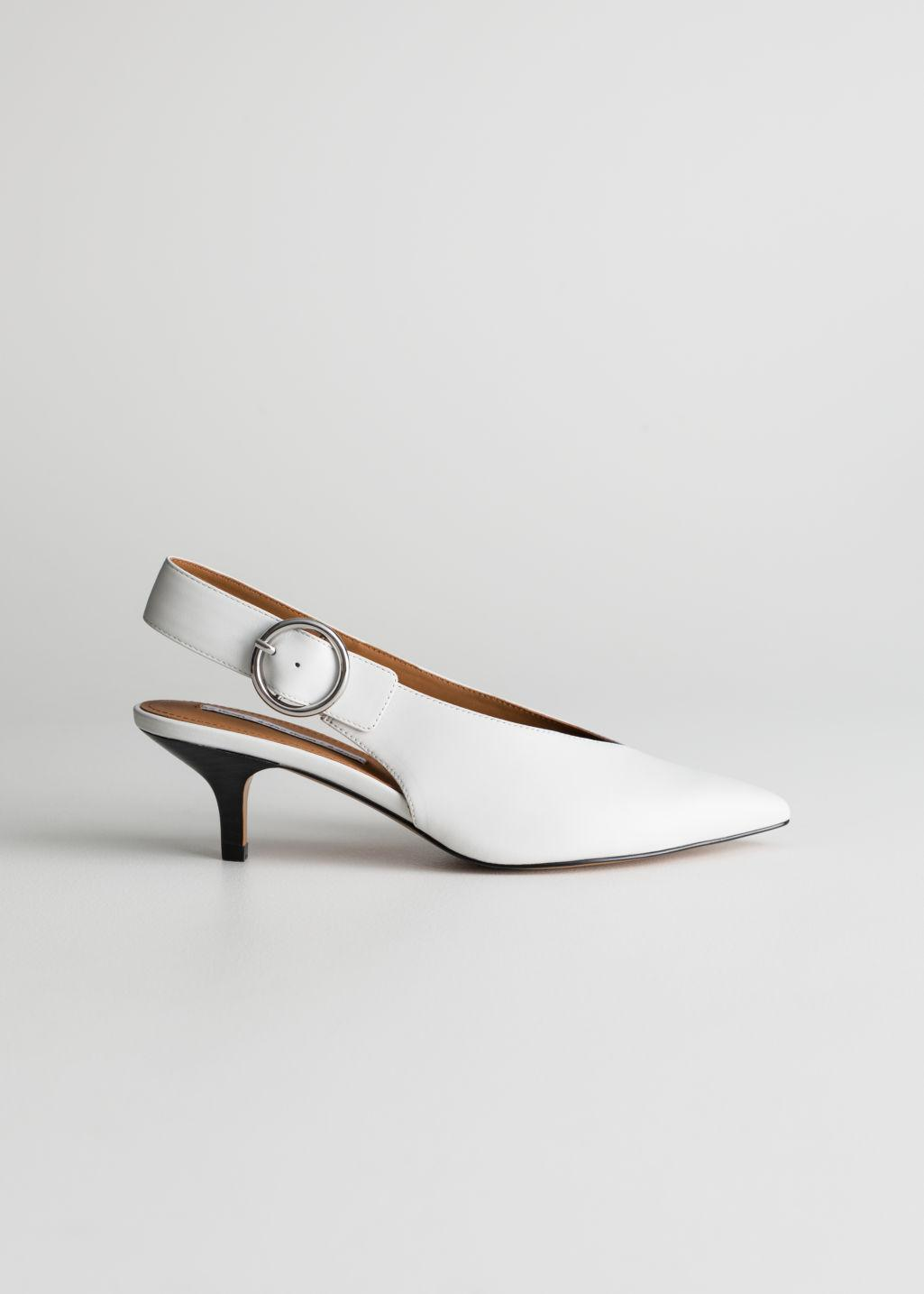 c141d488f22 Lyst -   Other Stories Pointed Slingback Kitten Heels in White