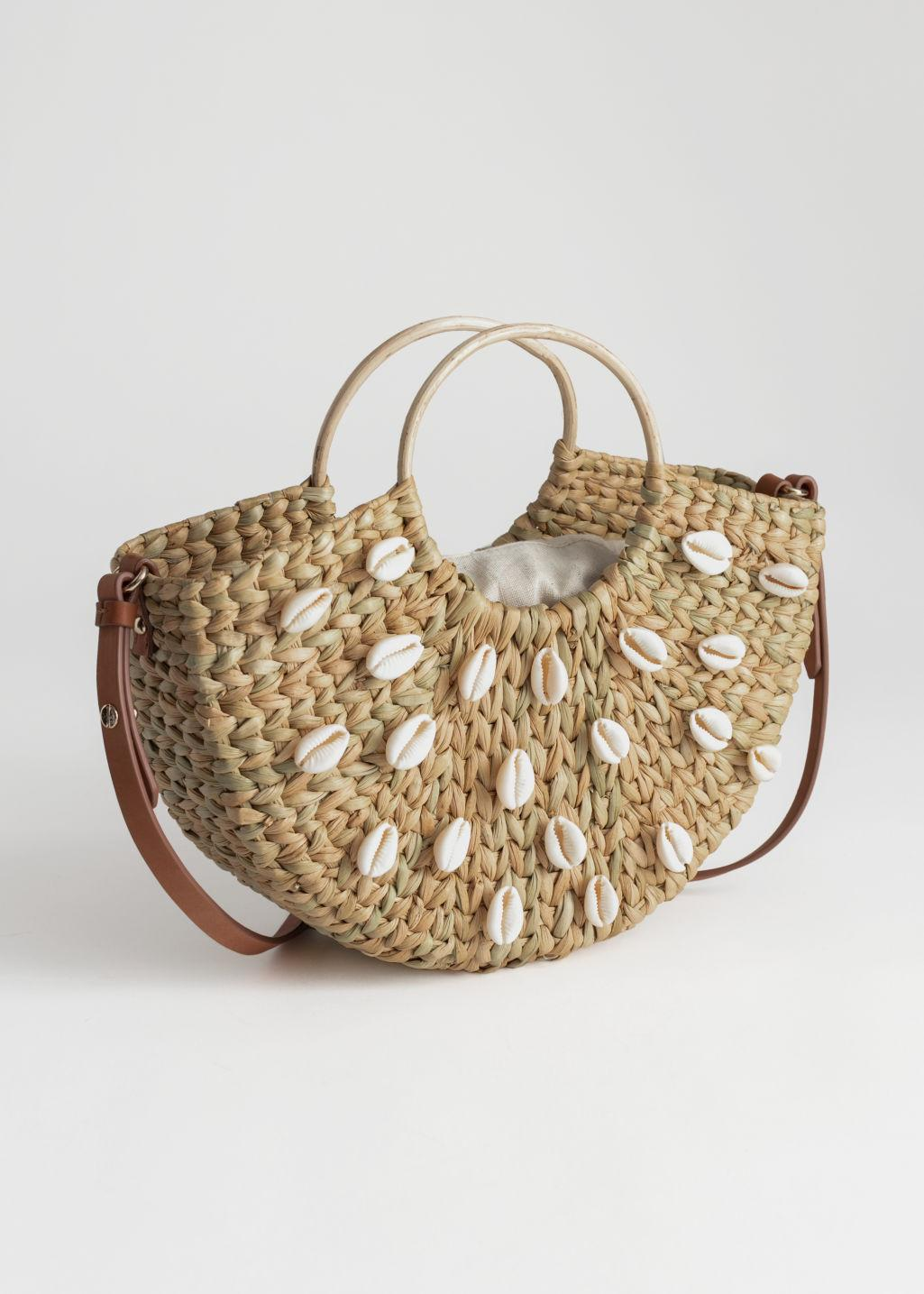 14fb437d3 & Other Stories Woven Puka Shell Tote Bag in Natural - Lyst